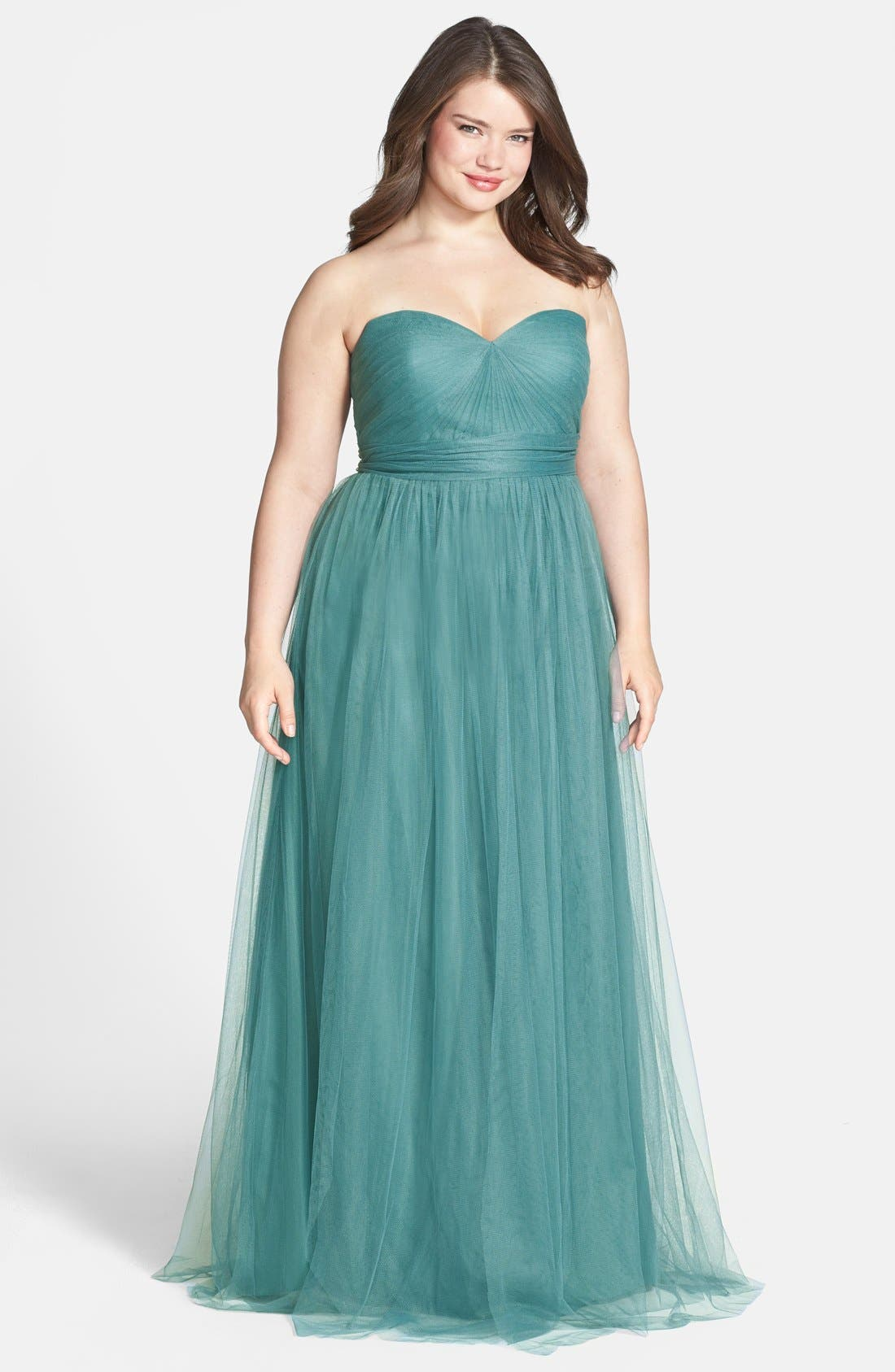 Annabelle Convertible Tulle Column Dress,                             Alternate thumbnail 154, color,