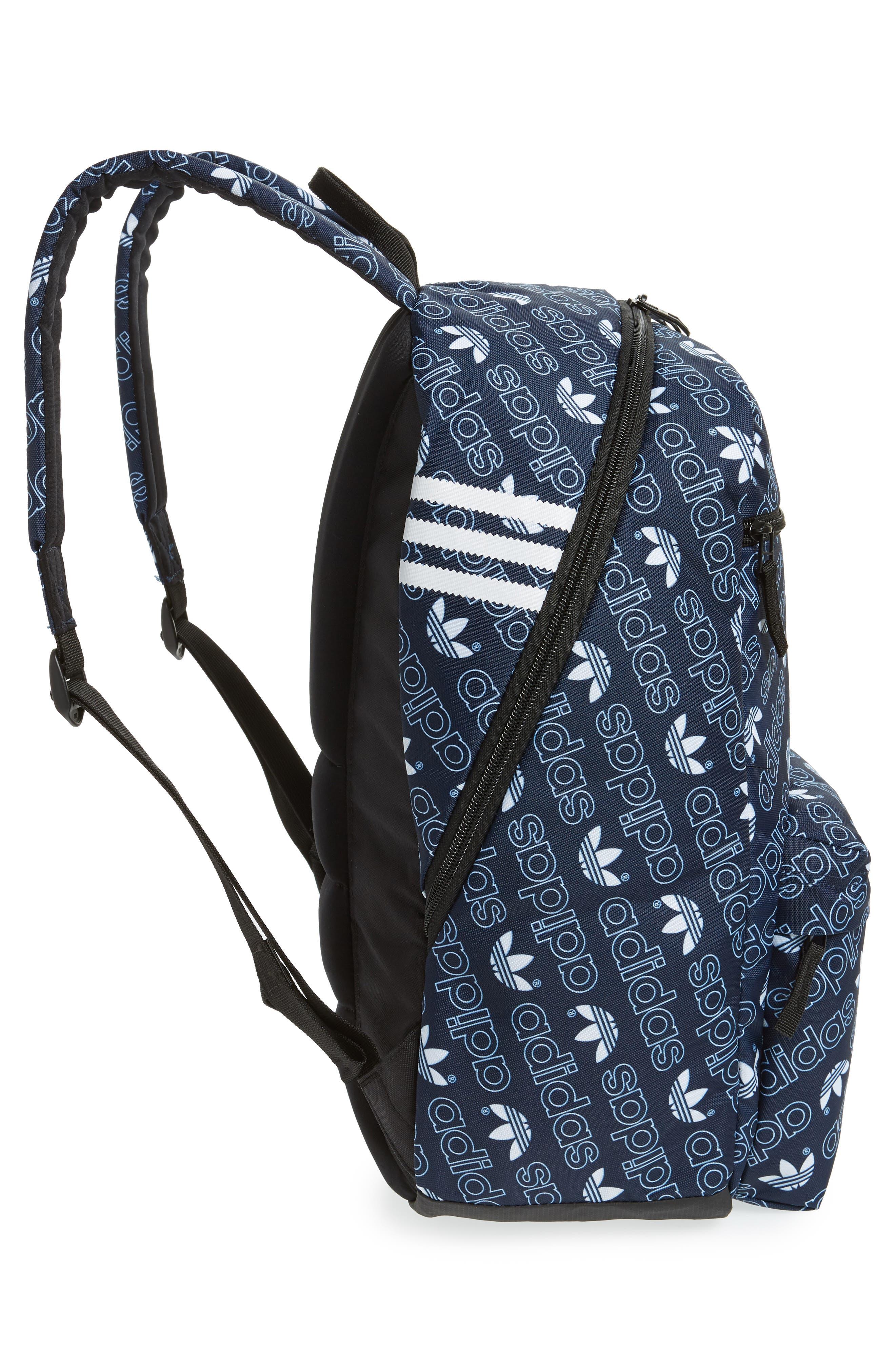 Monogram National Backpack,                             Alternate thumbnail 5, color,                             NAVY MONOGRAM