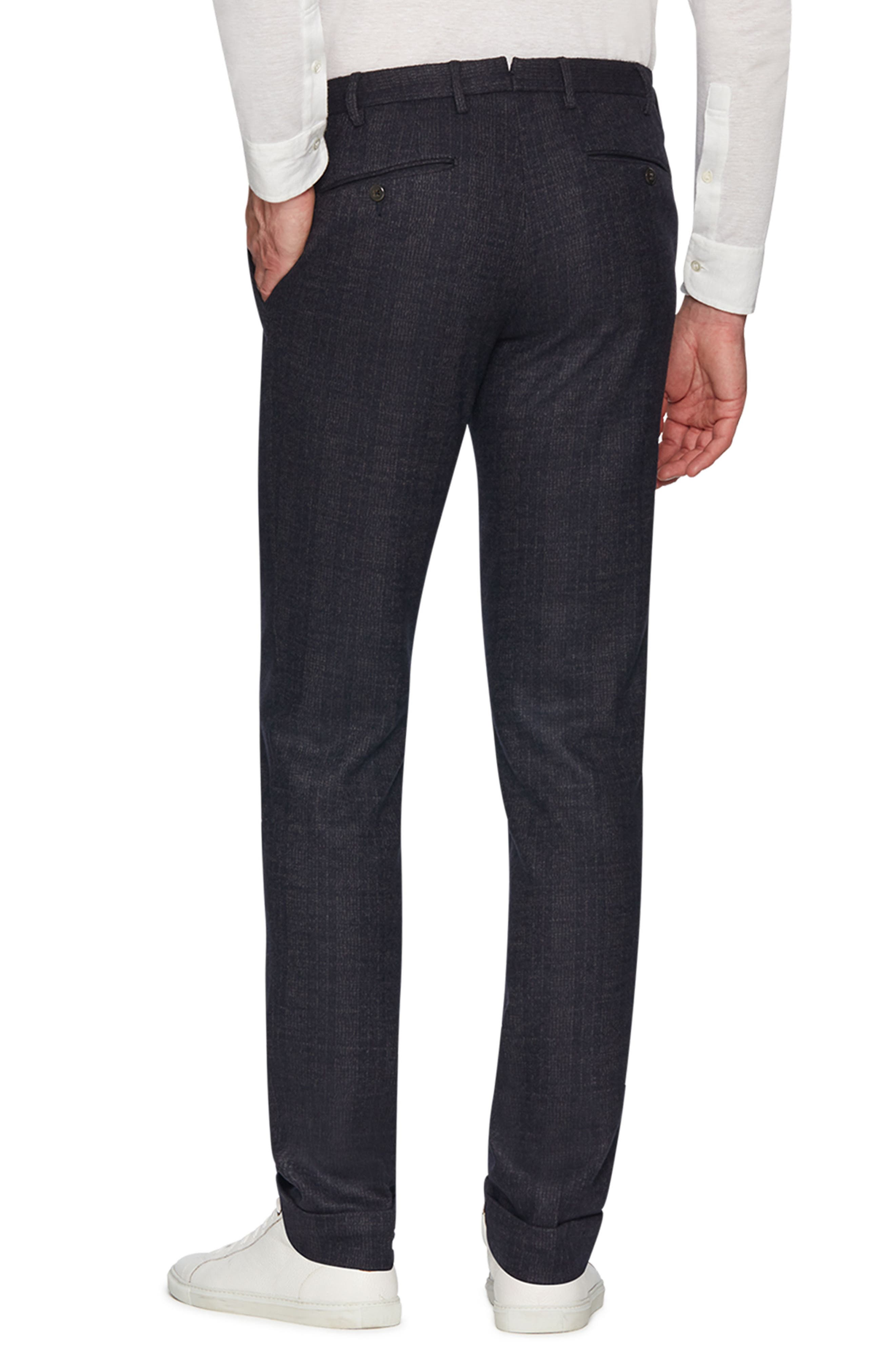 Josh Wool Blend Jersey Trousers,                             Alternate thumbnail 2, color,                             NAVY
