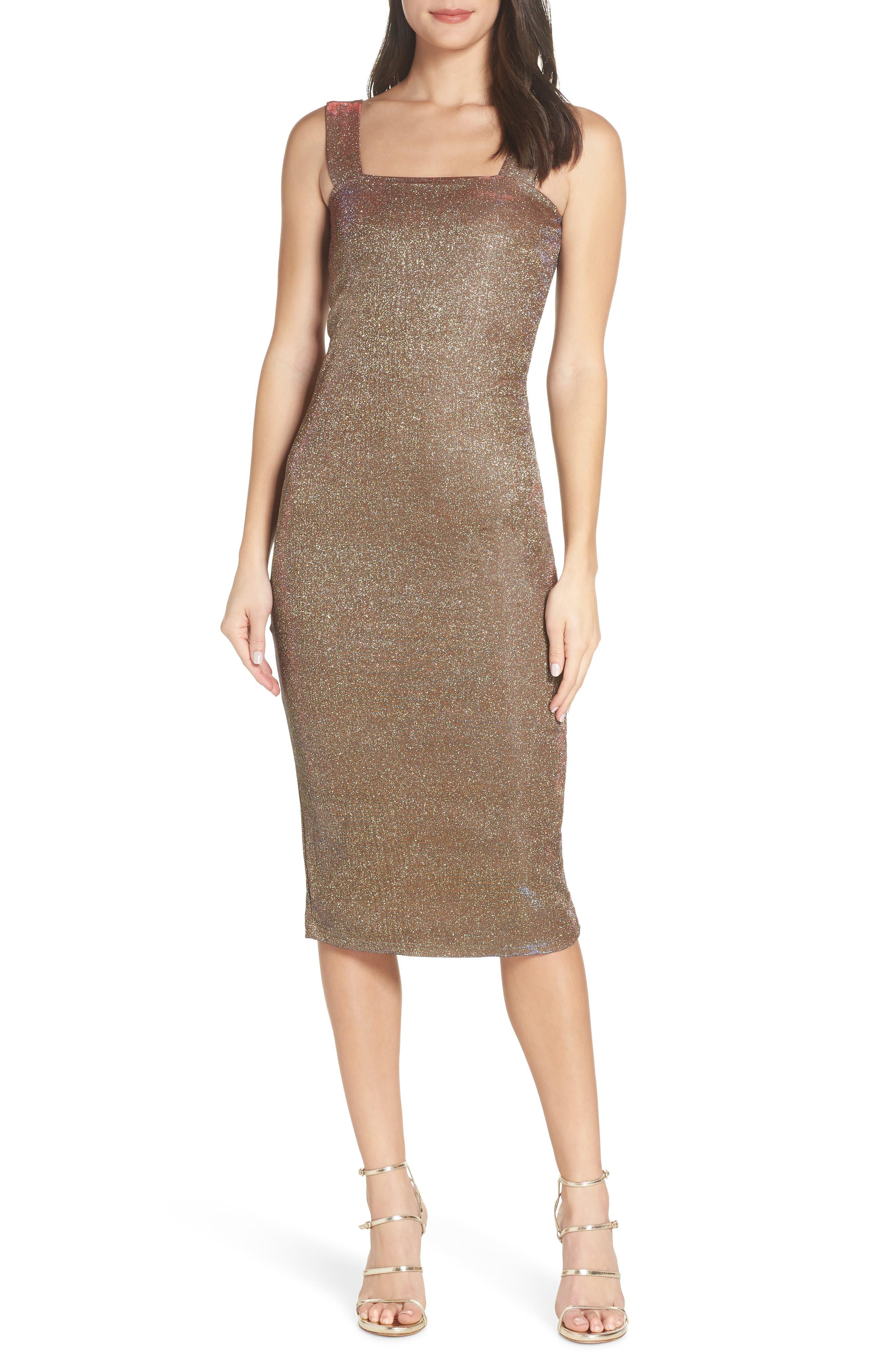 Mimi Sparkle Dress,                             Main thumbnail 1, color,                             GOLD