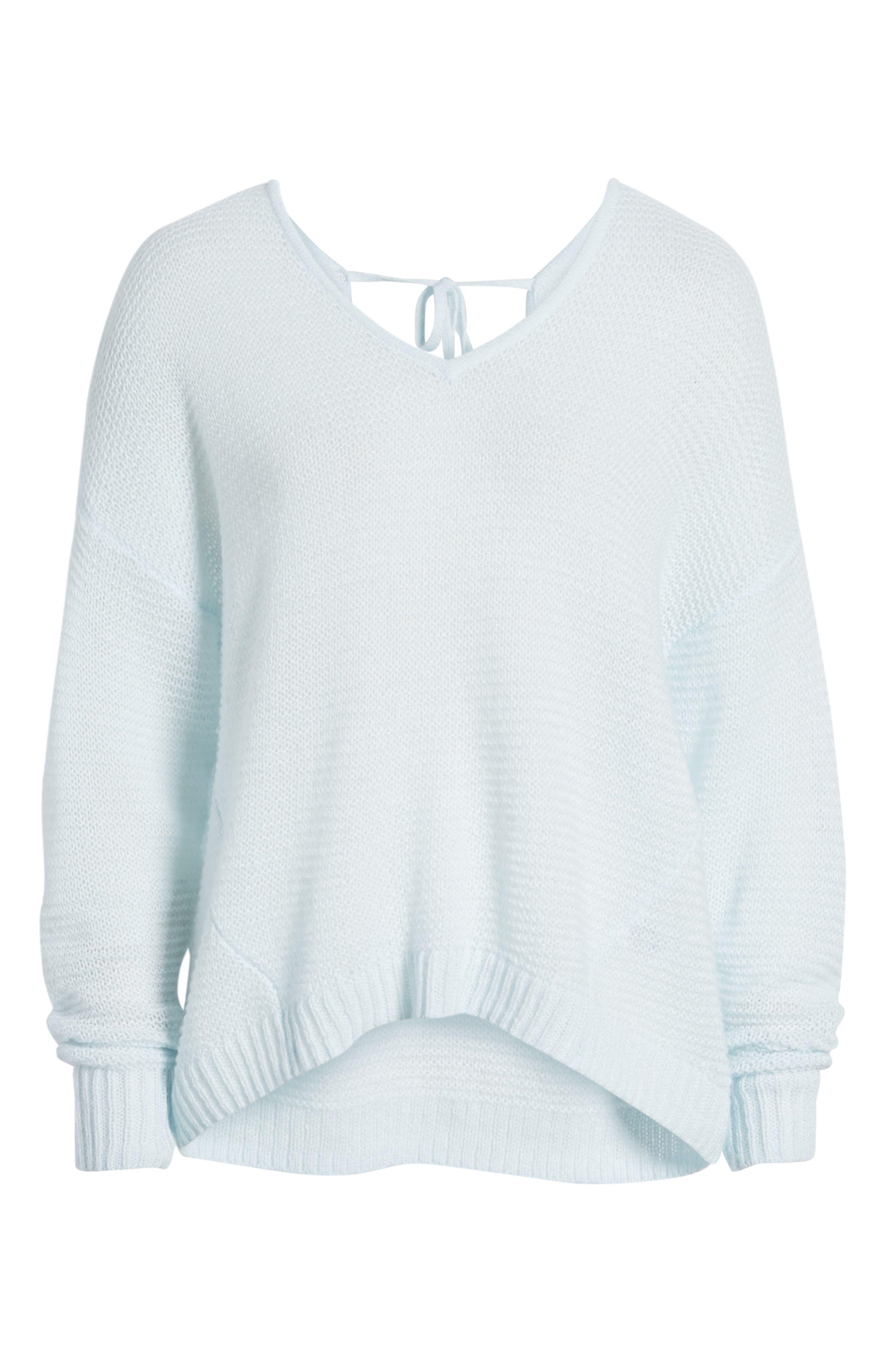 Double V Sweater,                             Alternate thumbnail 6, color,                             450