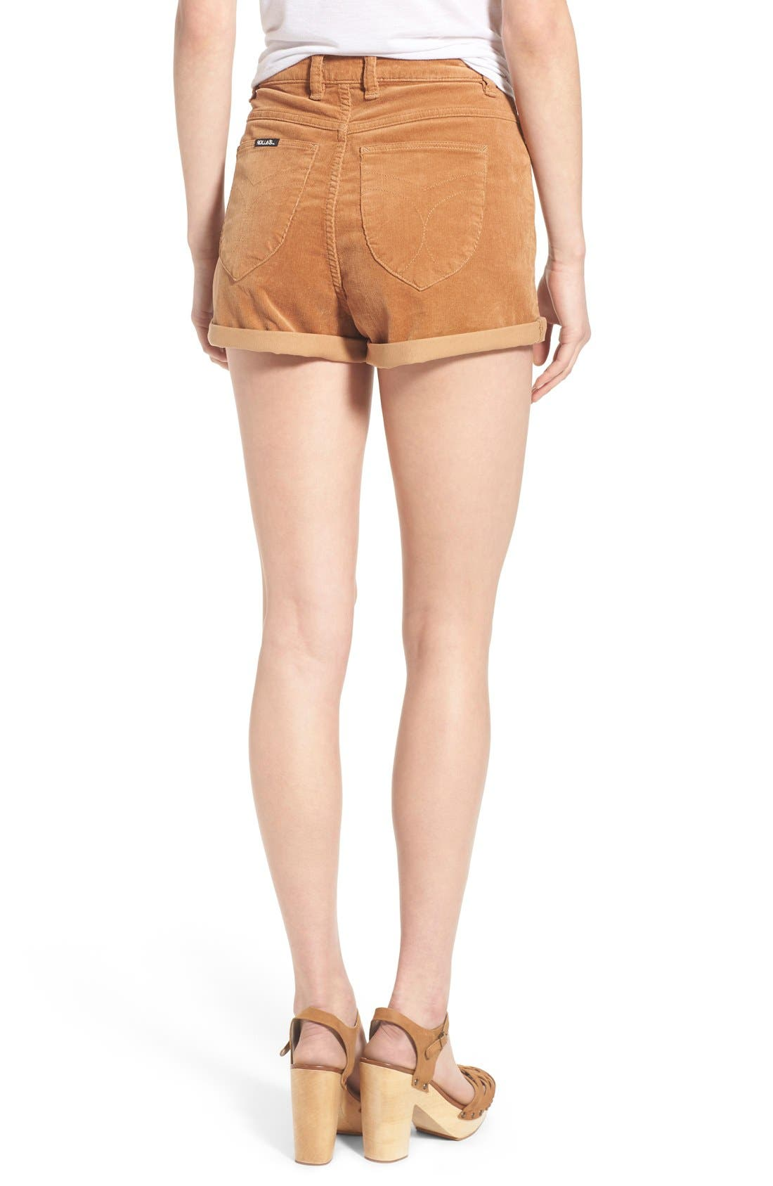 Corduroy Roll Cuff Shorts,                             Alternate thumbnail 4, color,                             200
