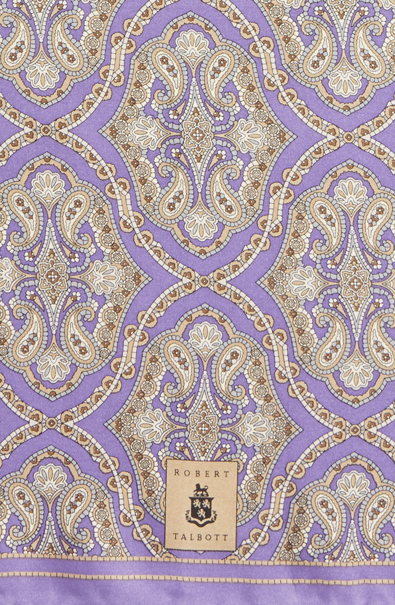 Medallion Silk Pocket Square,                             Alternate thumbnail 14, color,