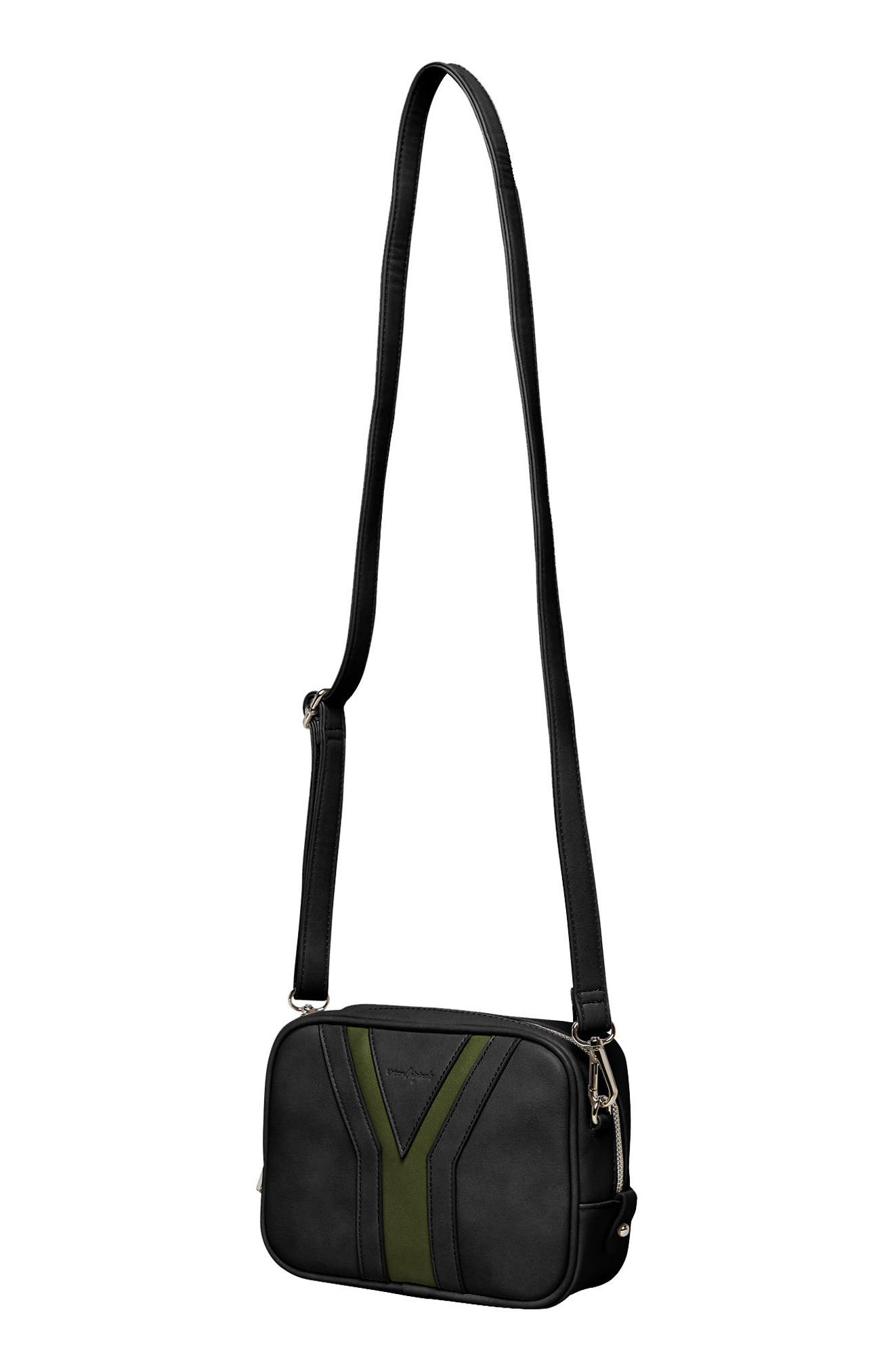 Late Night Vegan Leather Crossbody Bag,                             Alternate thumbnail 2, color,                             001