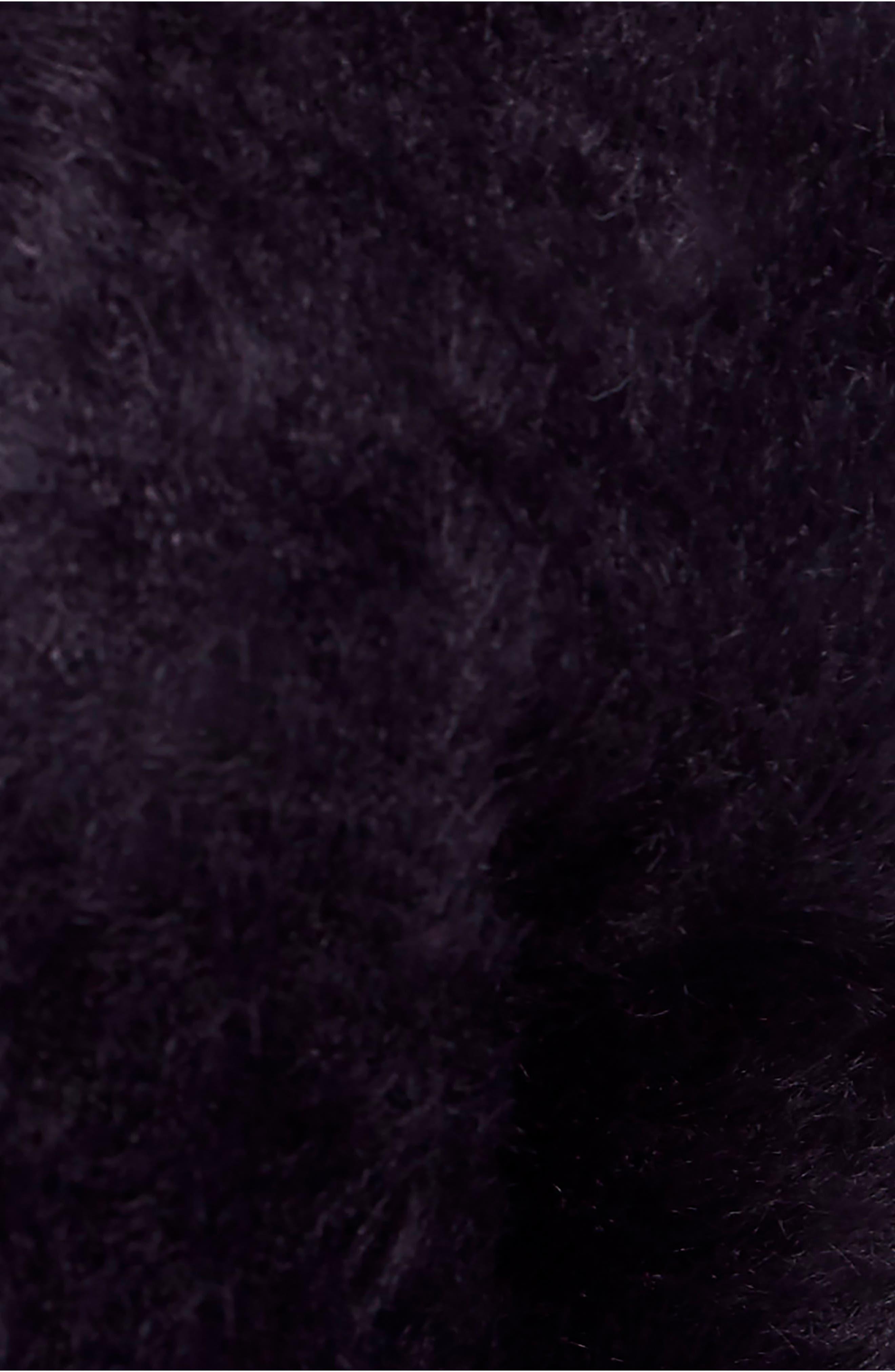 FREE PEOPLE,                             Faux Fur Cardigan,                             Alternate thumbnail 5, color,                             001
