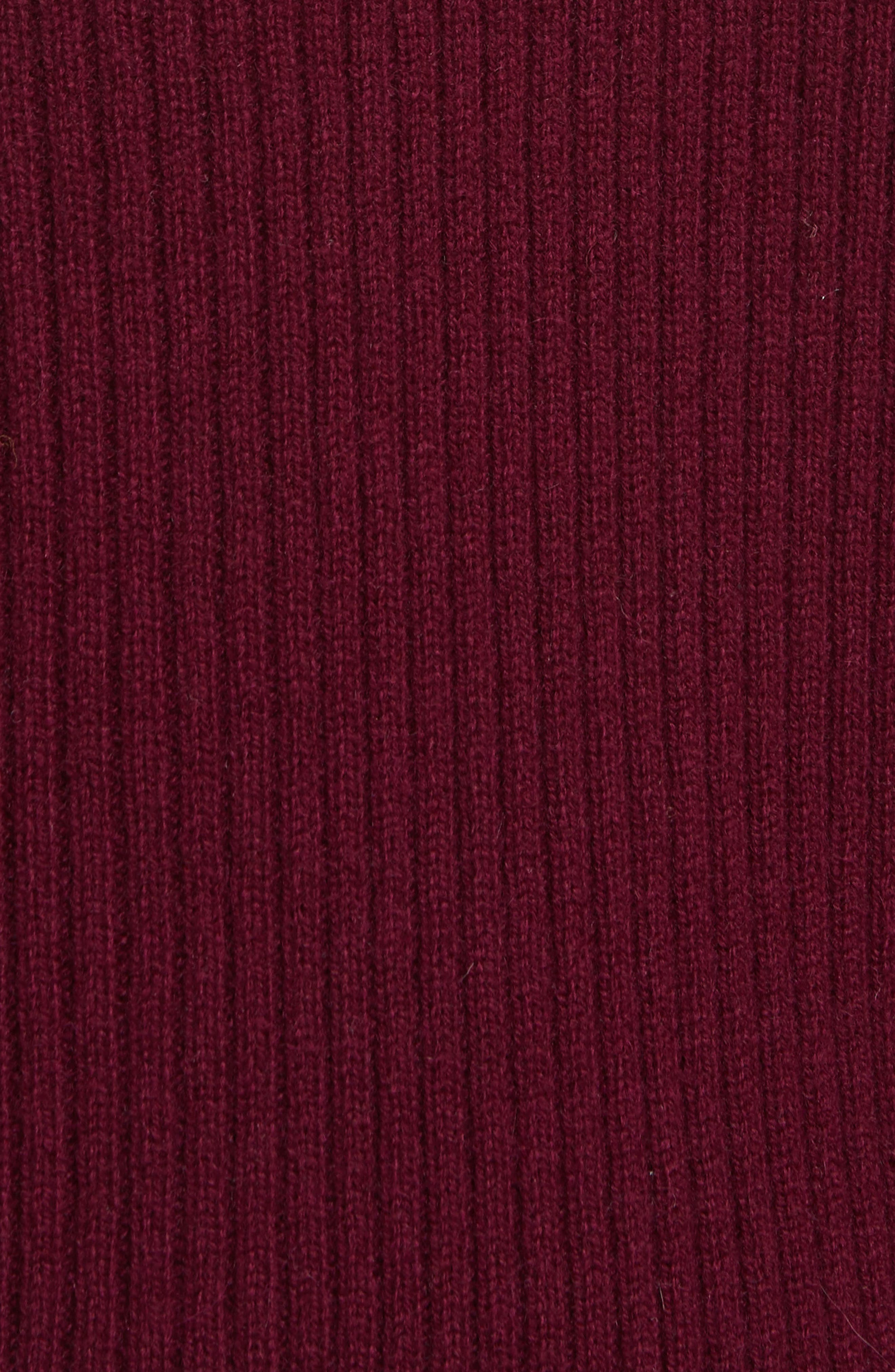 Bishop Sleeve Cashmere Sweater,                             Alternate thumbnail 5, color,                             933