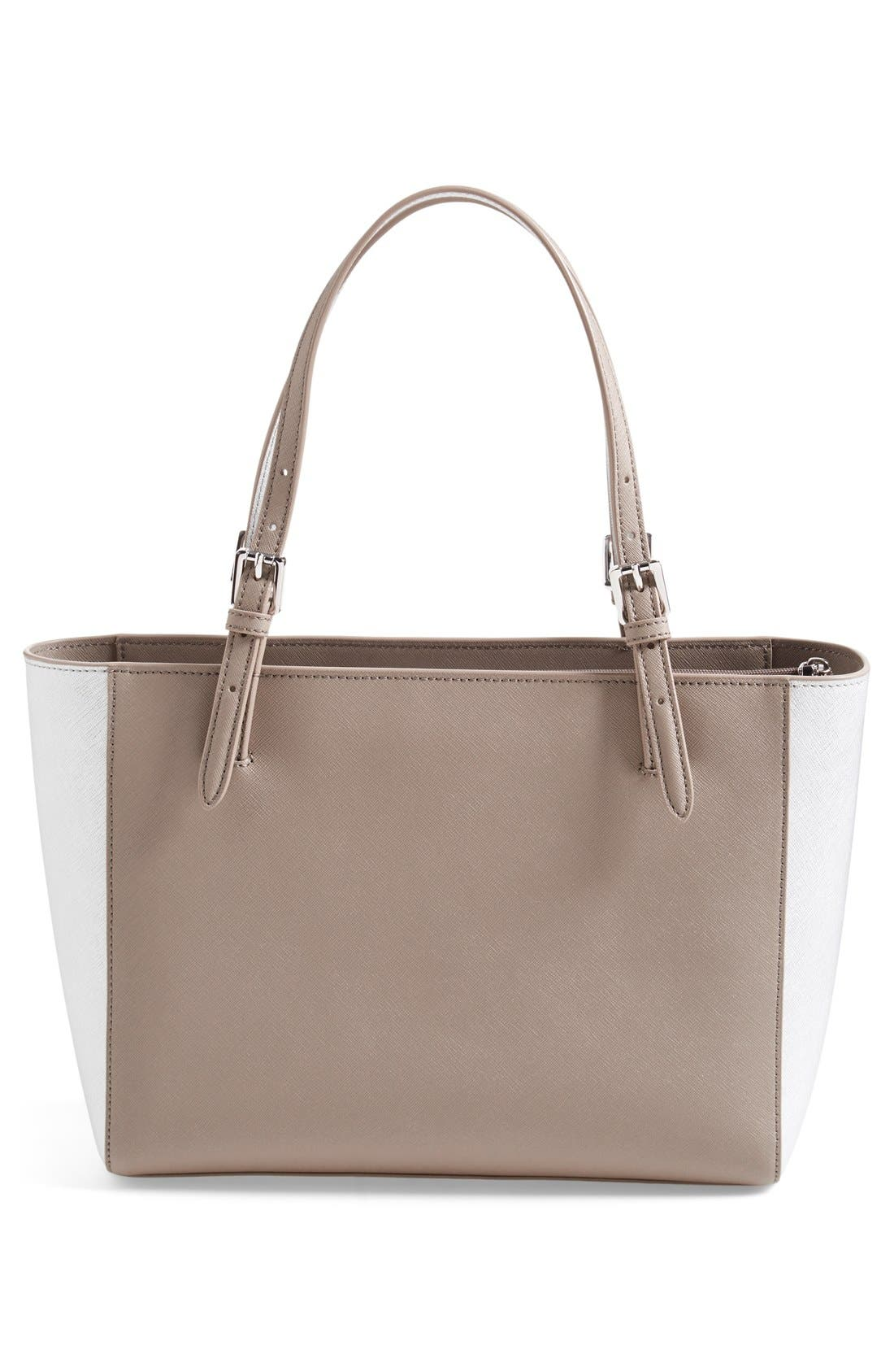 'Small York' Saffiano Leather Buckle Tote,                             Alternate thumbnail 32, color,