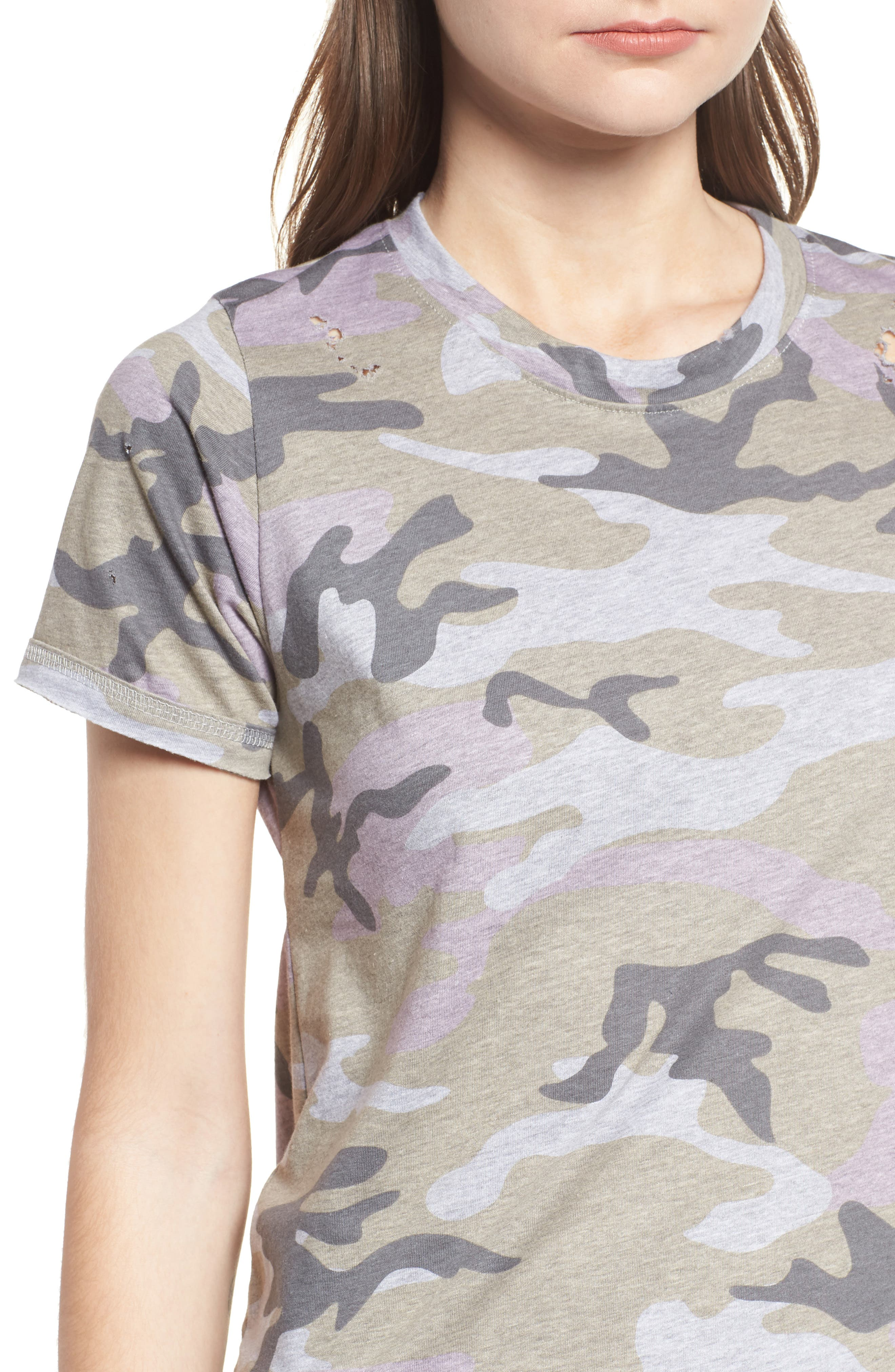 Distressed Camo Tee,                             Alternate thumbnail 4, color,                             350