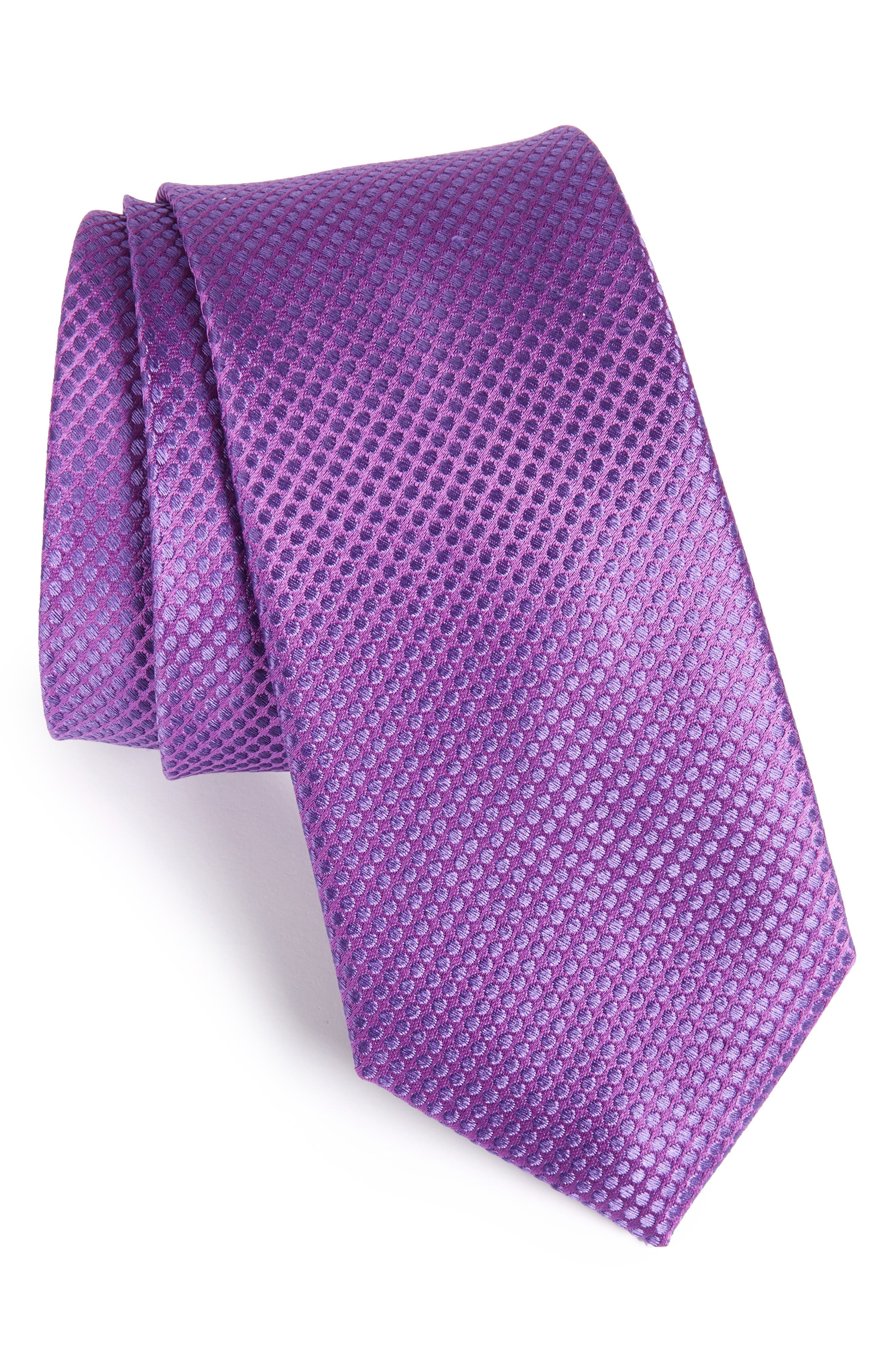 Saturated Dot Silk Tie,                         Main,                         color, 502