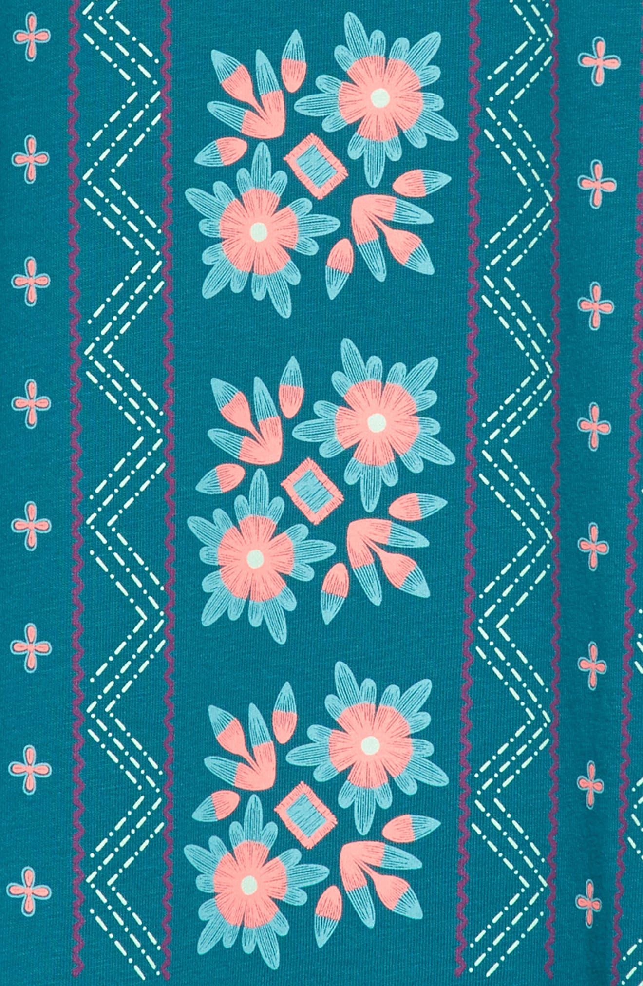 TEA COLLECTION,                             Floral Graphic Dress,                             Alternate thumbnail 3, color,                             446