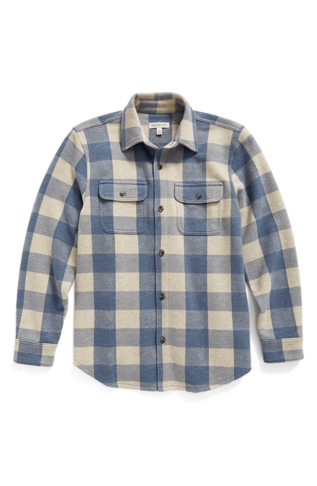 Woven Plaid Shirt,                             Main thumbnail 4, color,