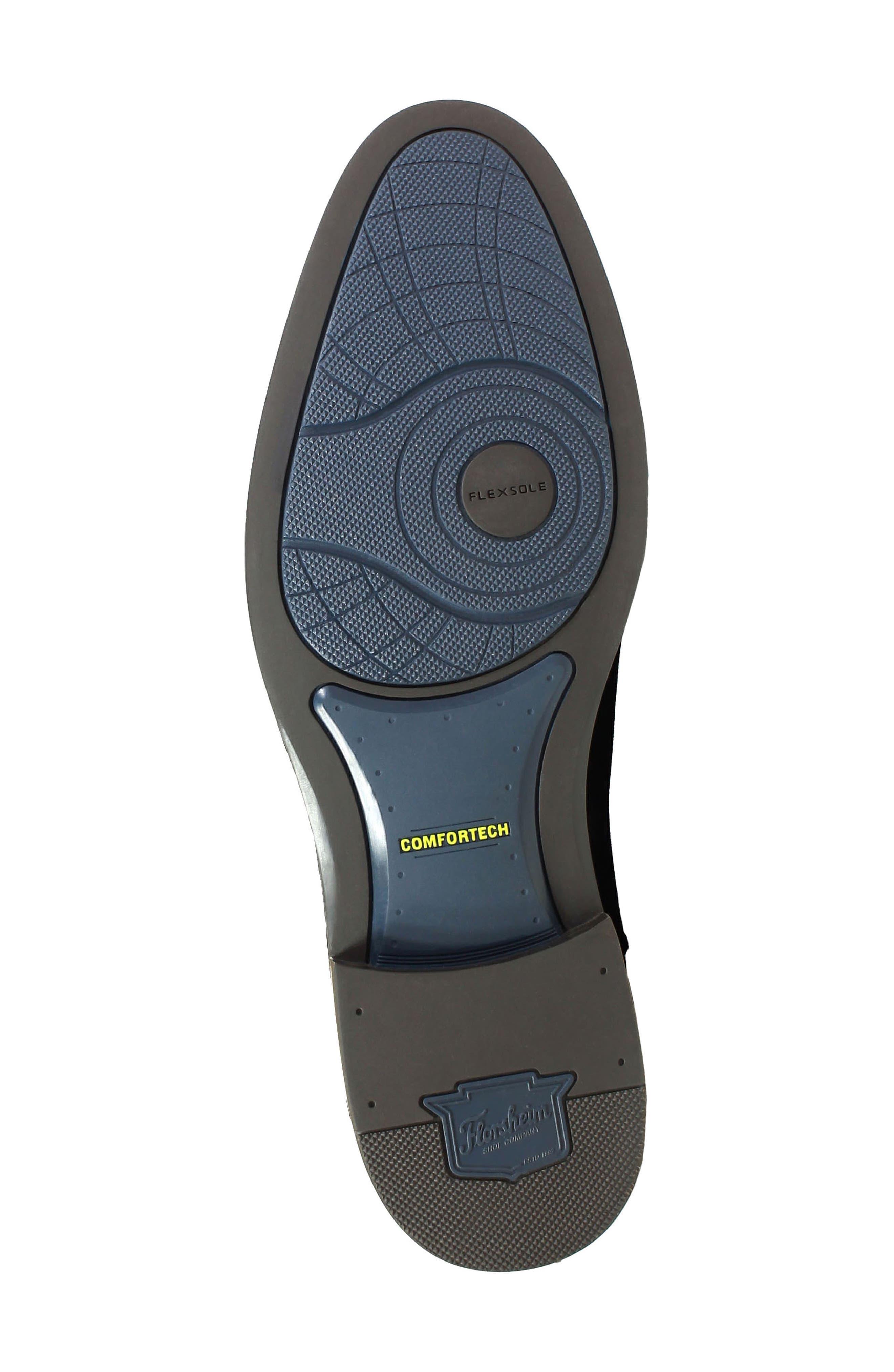 Uptown Plain Toe Mid Chelsea Boot,                             Alternate thumbnail 6, color,                             BLACK SUEDE