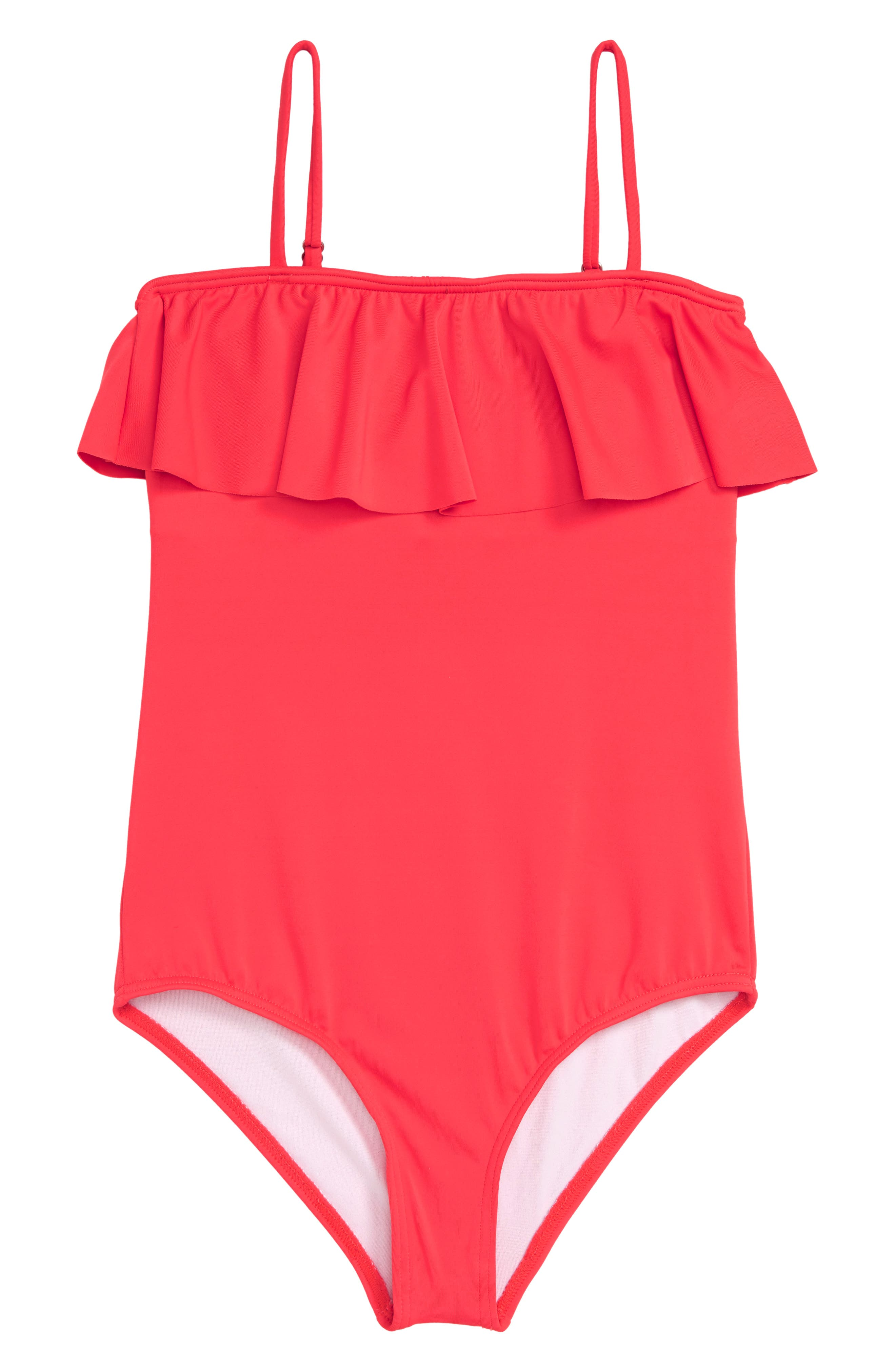 Sol Searcher One-Piece Swimsuit,                             Main thumbnail 1, color,                             GERANIUM