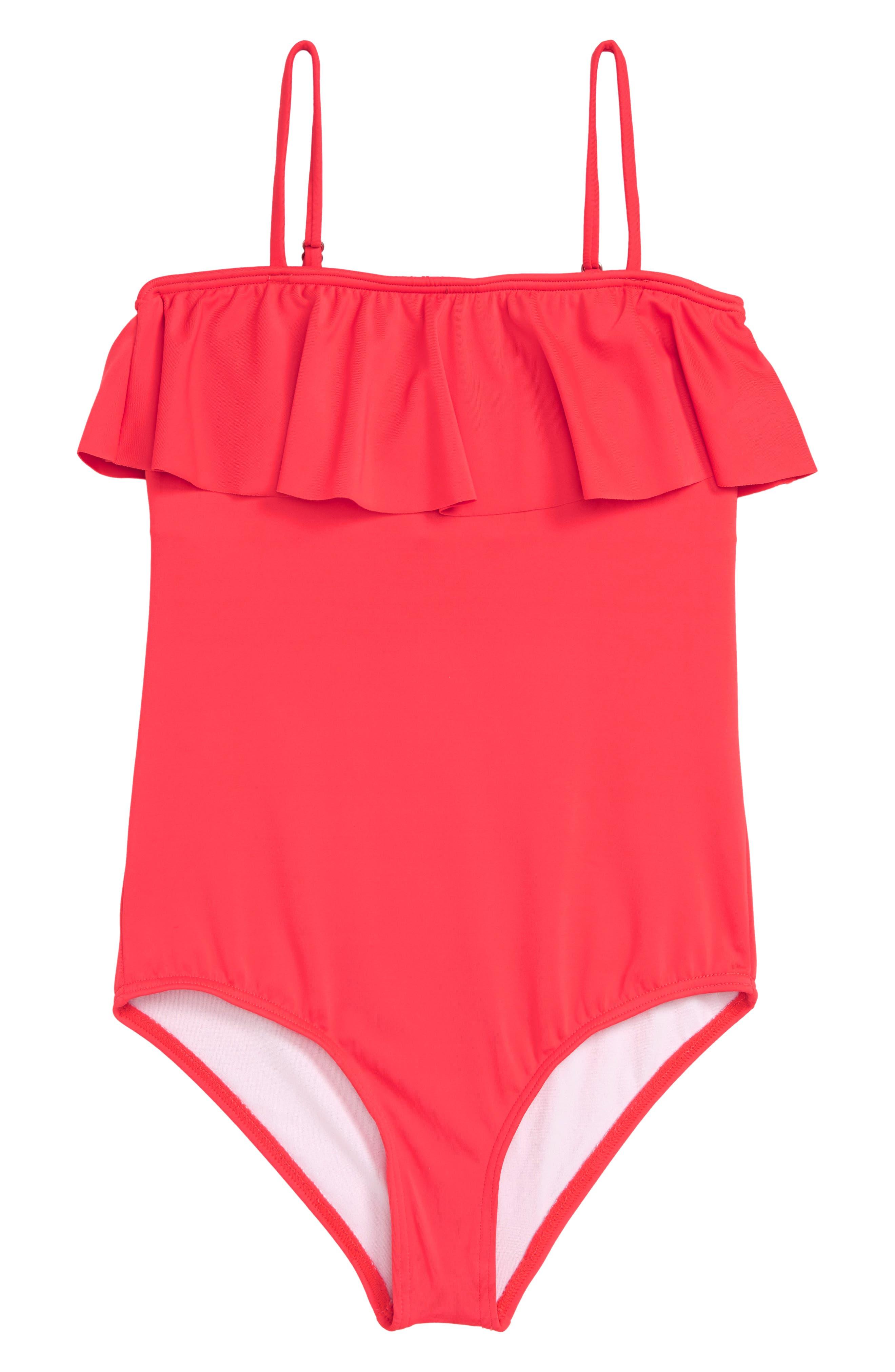 Sol Searcher One-Piece Swimsuit,                         Main,                         color, GERANIUM