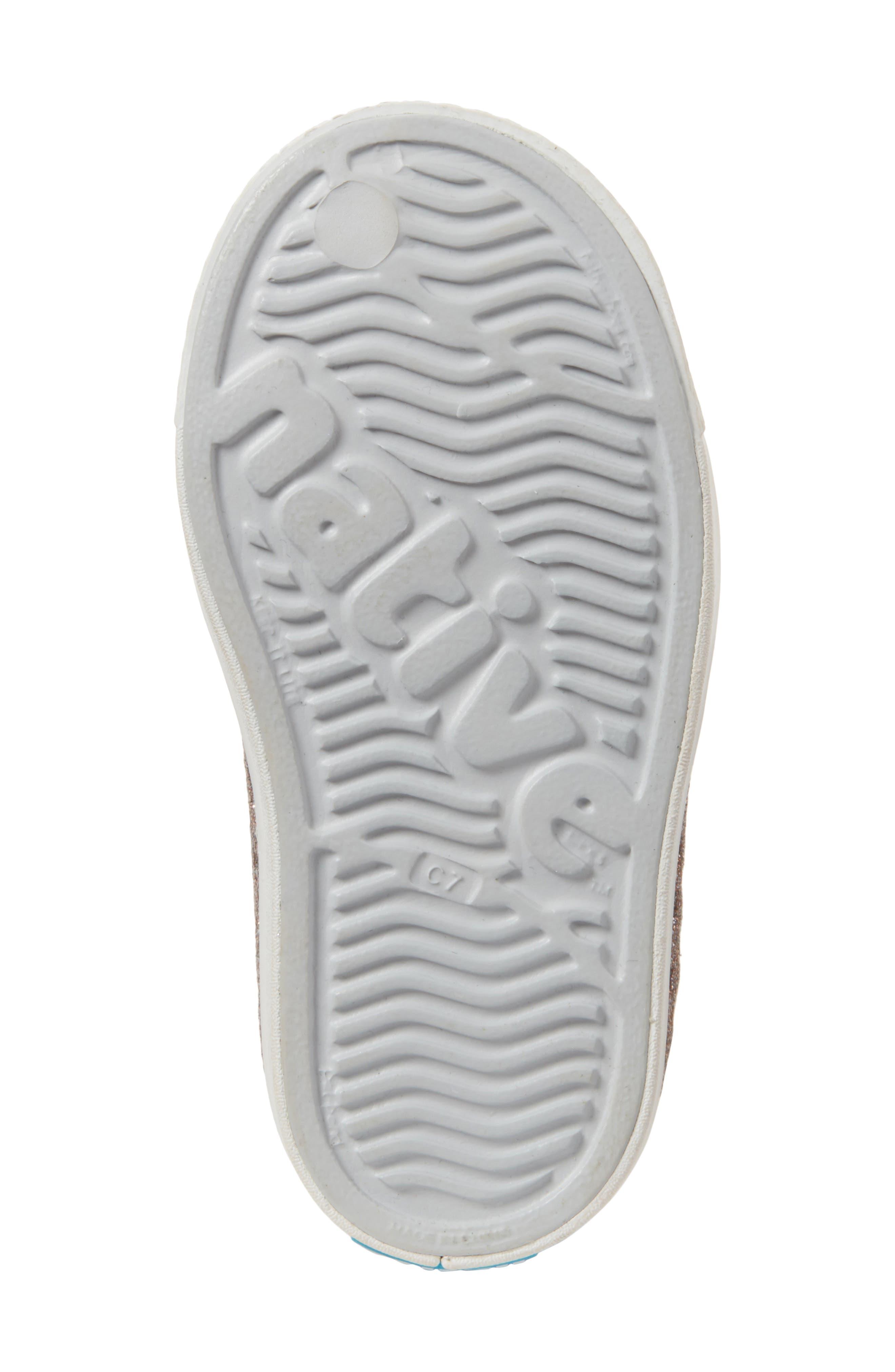 Jefferson - Bling Glitter Slip-On Sneaker,                             Alternate thumbnail 6, color,                             METALLIC BLING/ SHELL WHITE