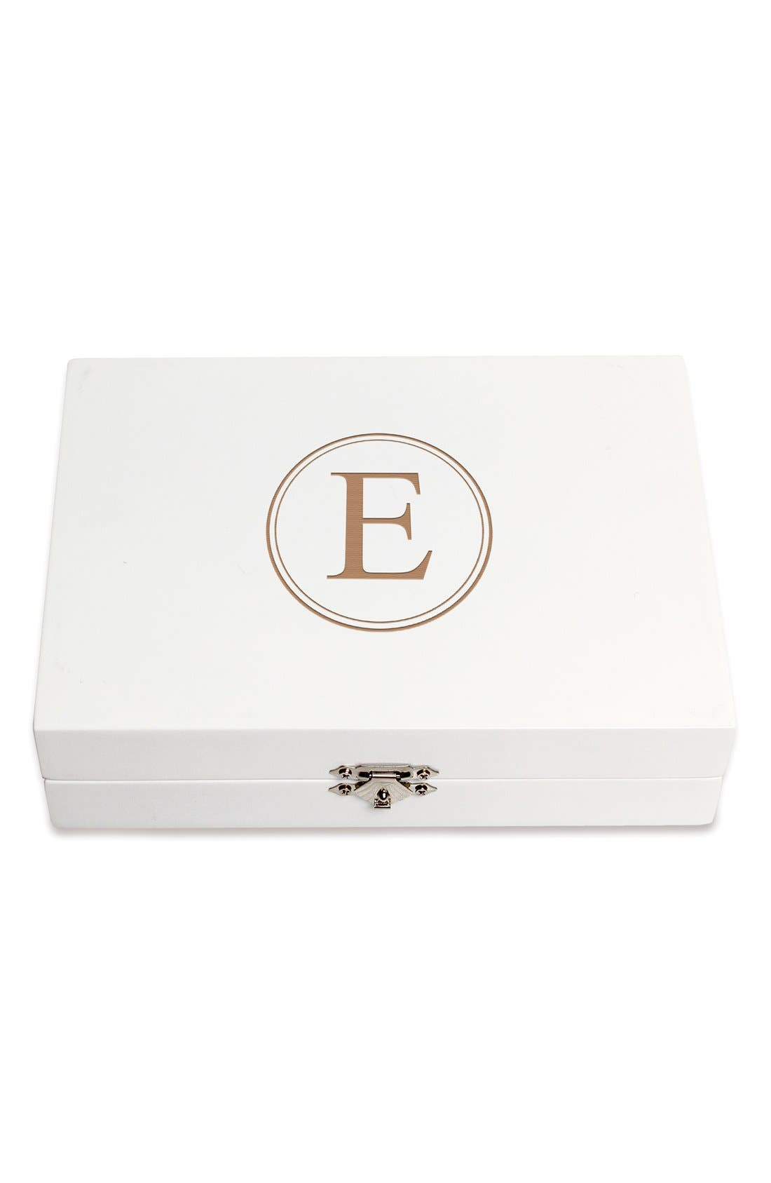 Monogram Wooden Jewelry Box,                             Main thumbnail 34, color,