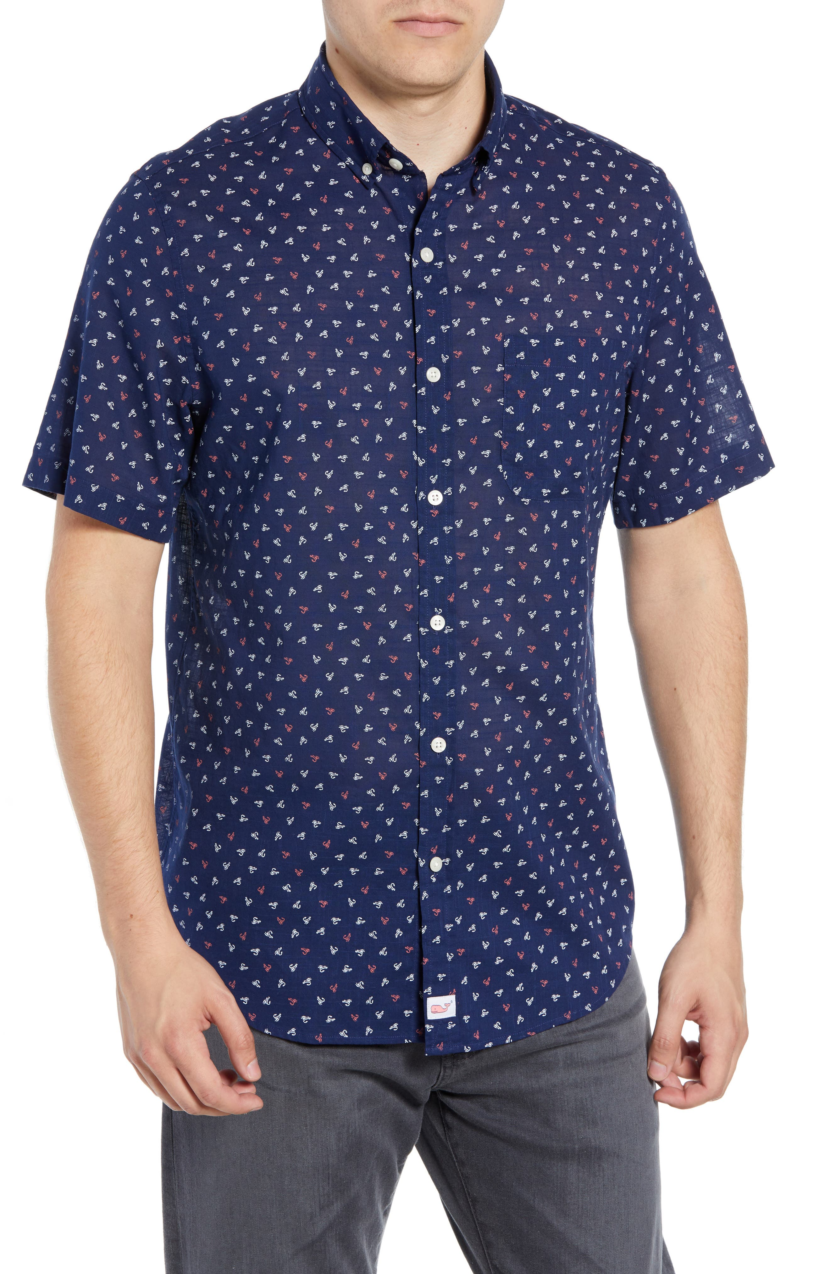 Murray Lures Slim Fit Sport Shirt,                             Main thumbnail 1, color,                             DEEP BAY