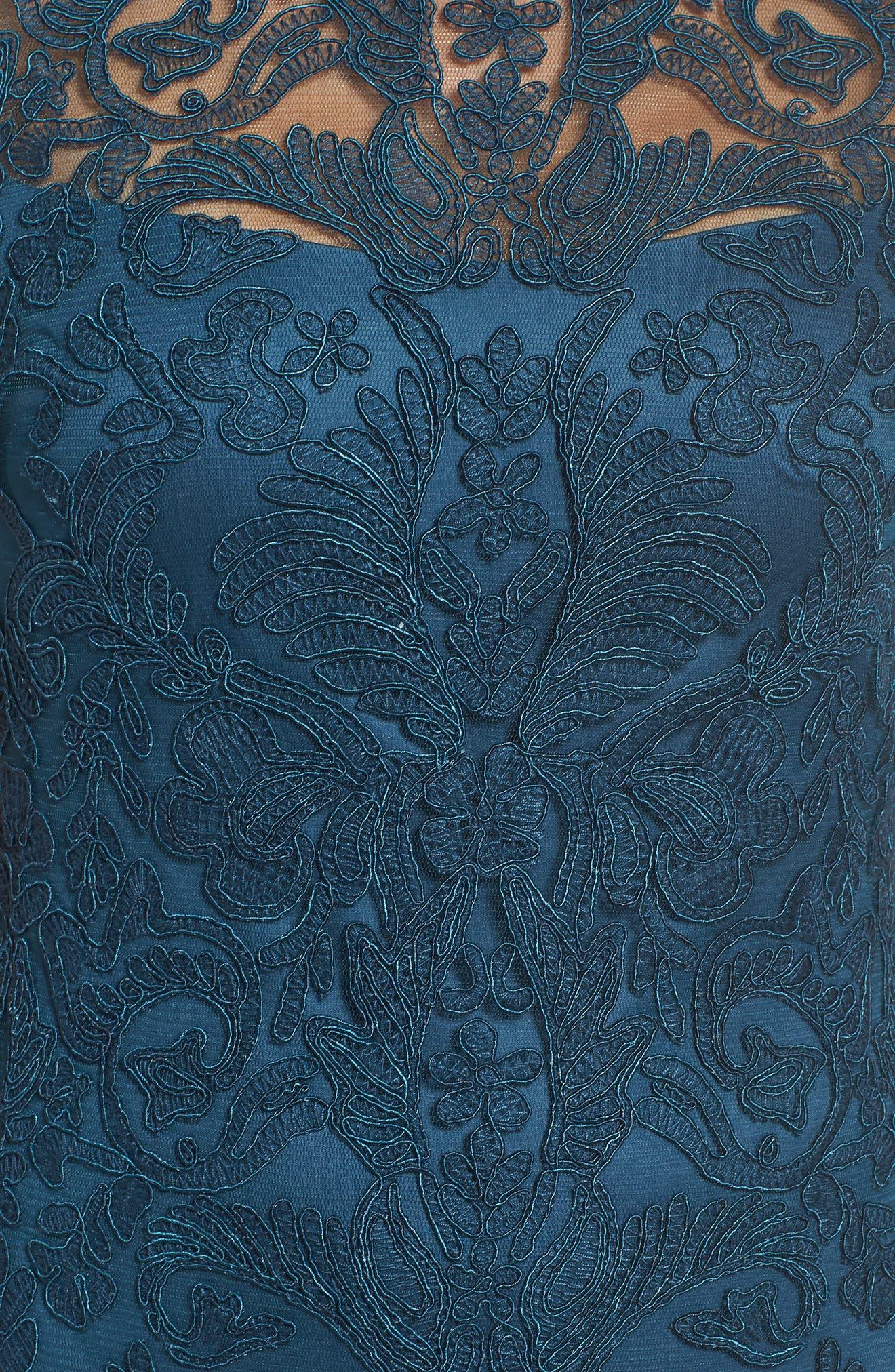Illusion Yoke Lace Sheath Dress,                             Alternate thumbnail 86, color,