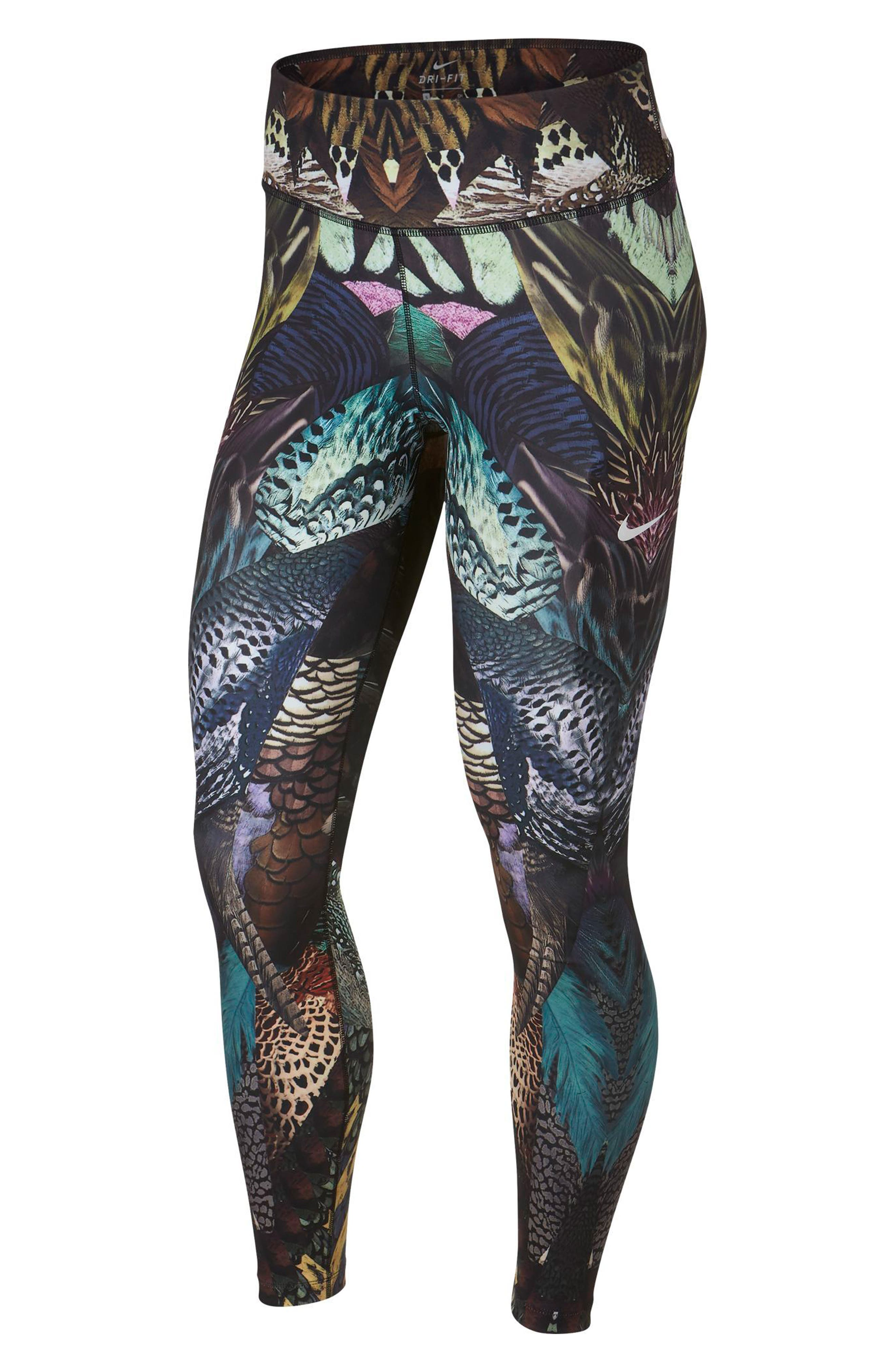NIKE Power Print Training Tights, Main, color, 200