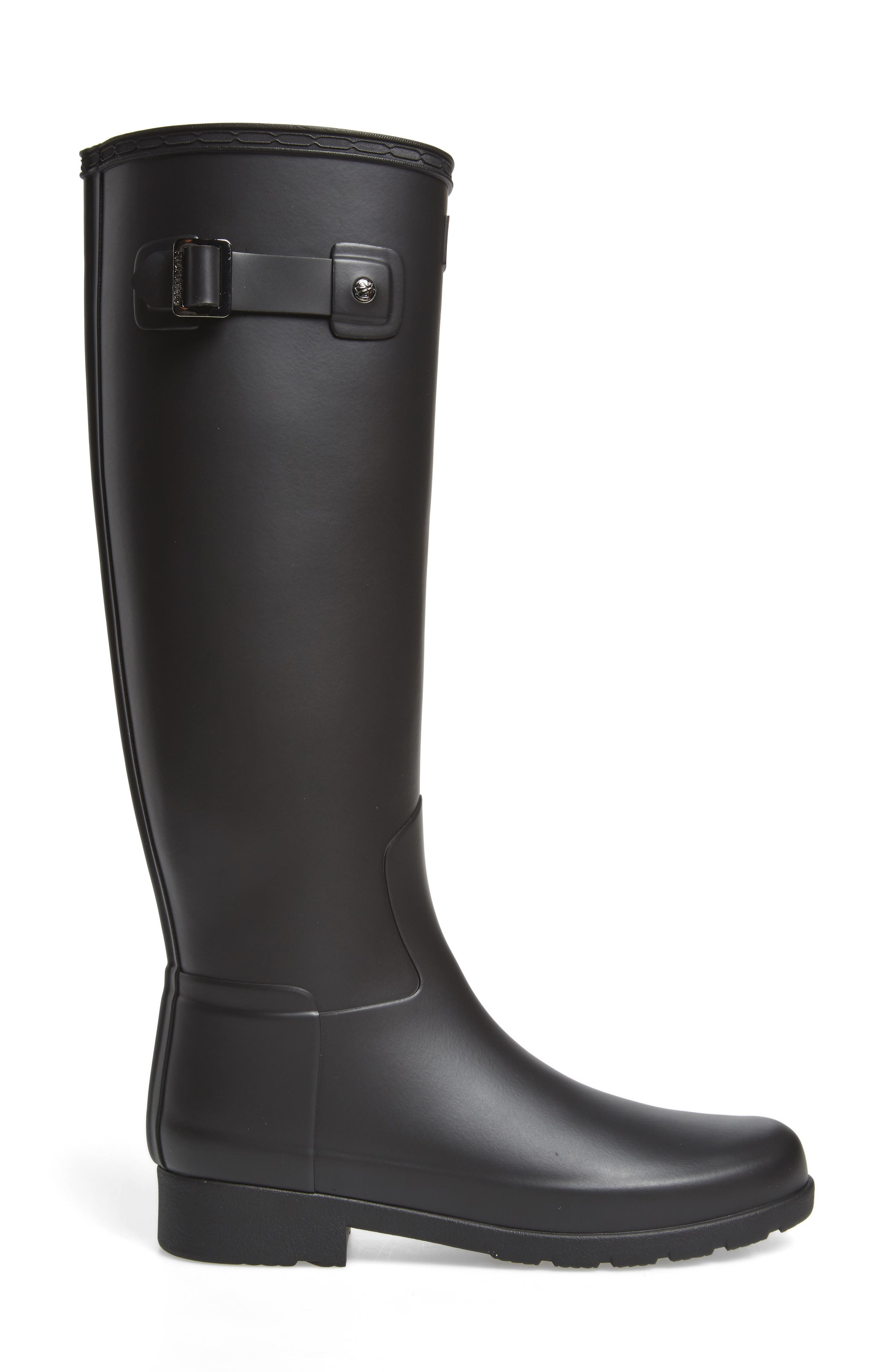 Original Refined Rain Boot,                             Alternate thumbnail 3, color,                             BLACK