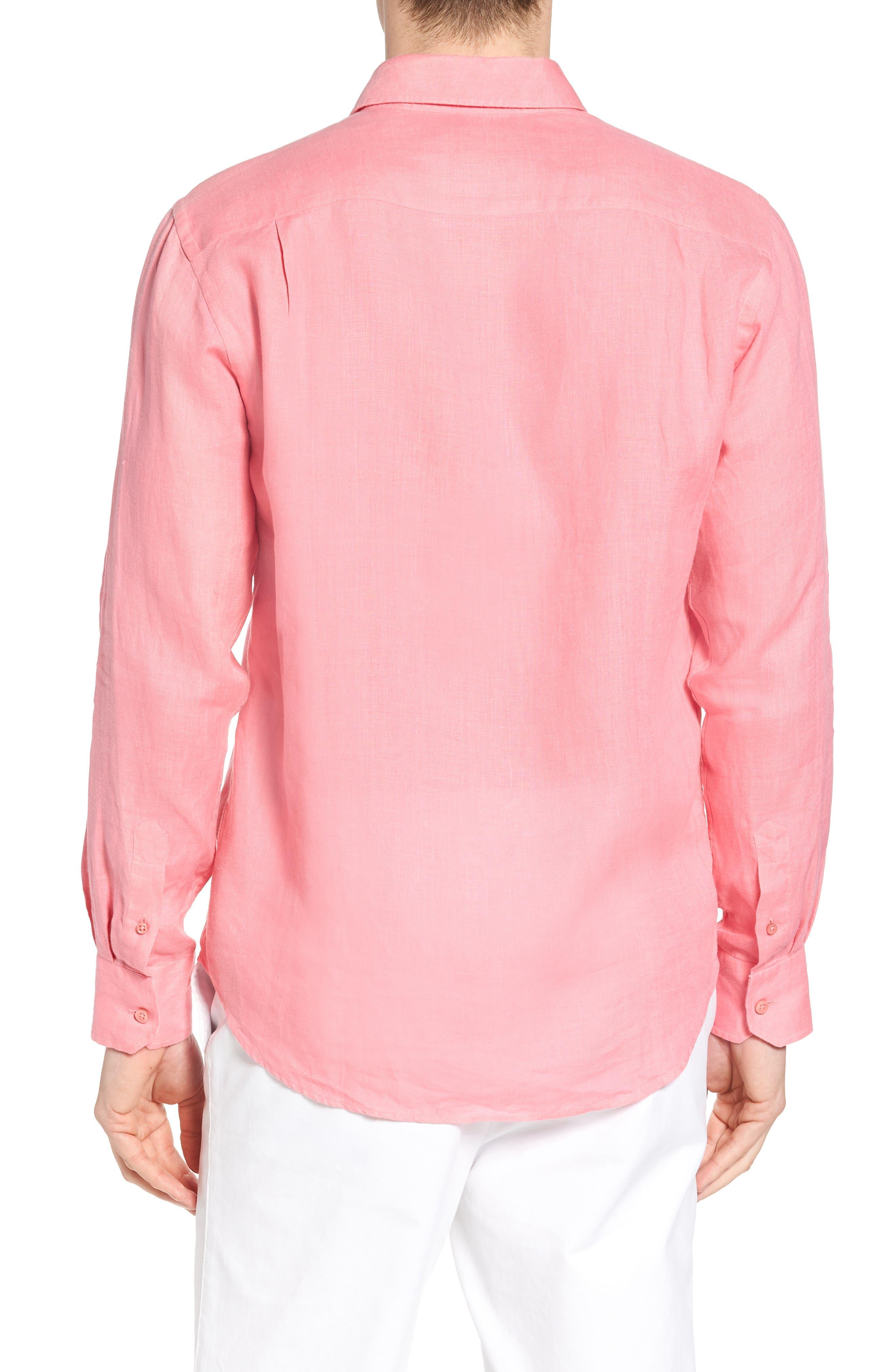 Caroubie Regular Fit Linen Sport Shirt,                             Alternate thumbnail 2, color,                             LOTUS