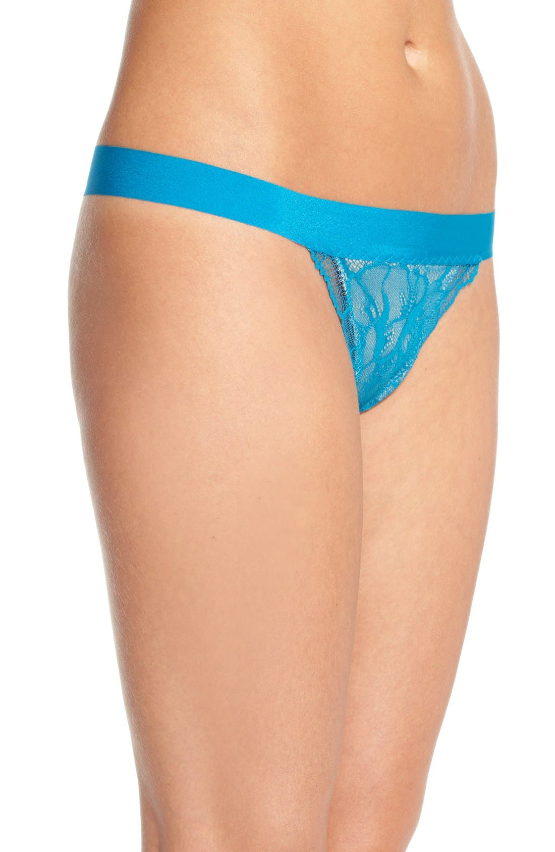 'Double Take' Lace G-String Thong,                             Alternate thumbnail 18, color,