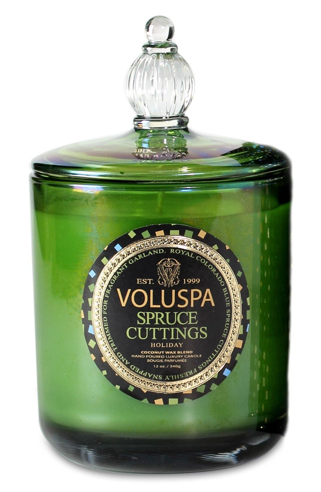 VOLUSPA,                             'Maison Holiday - Spruce Cuttings' Decorative Candle,                             Main thumbnail 1, color,                             000