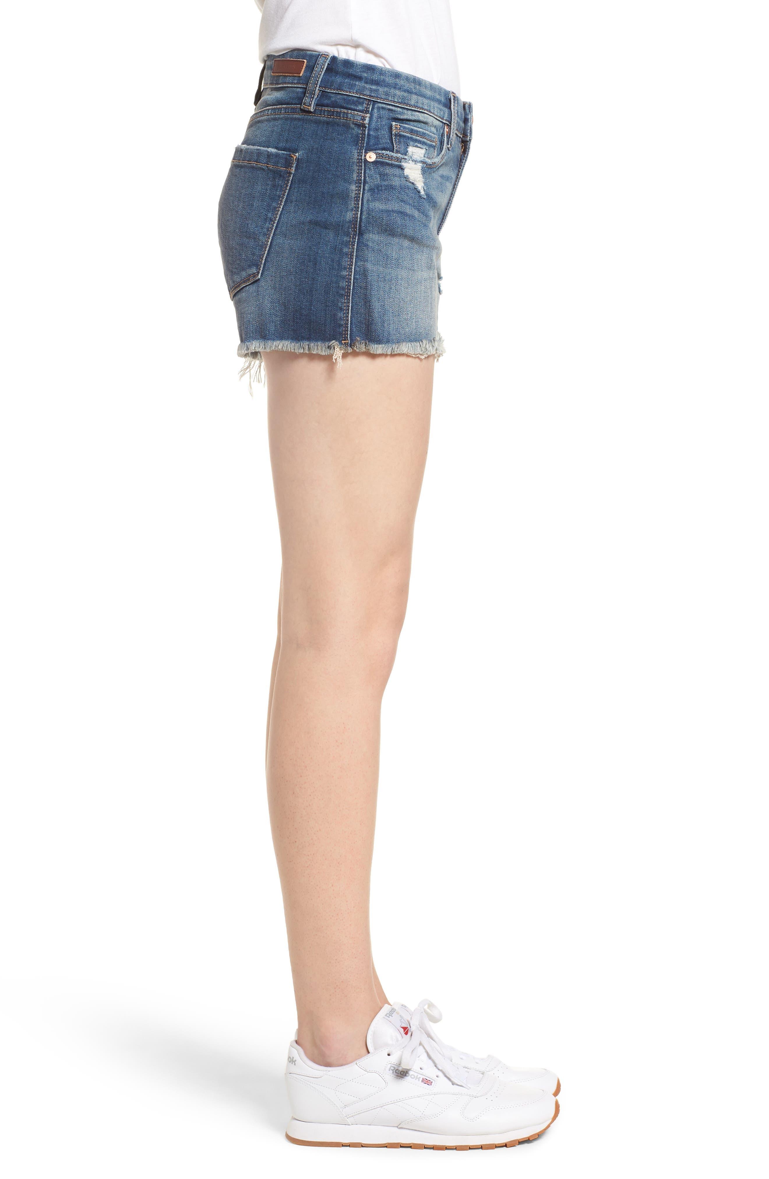 The Essex Distressed Denim Shorts,                             Alternate thumbnail 3, color,                             ALTER EGO