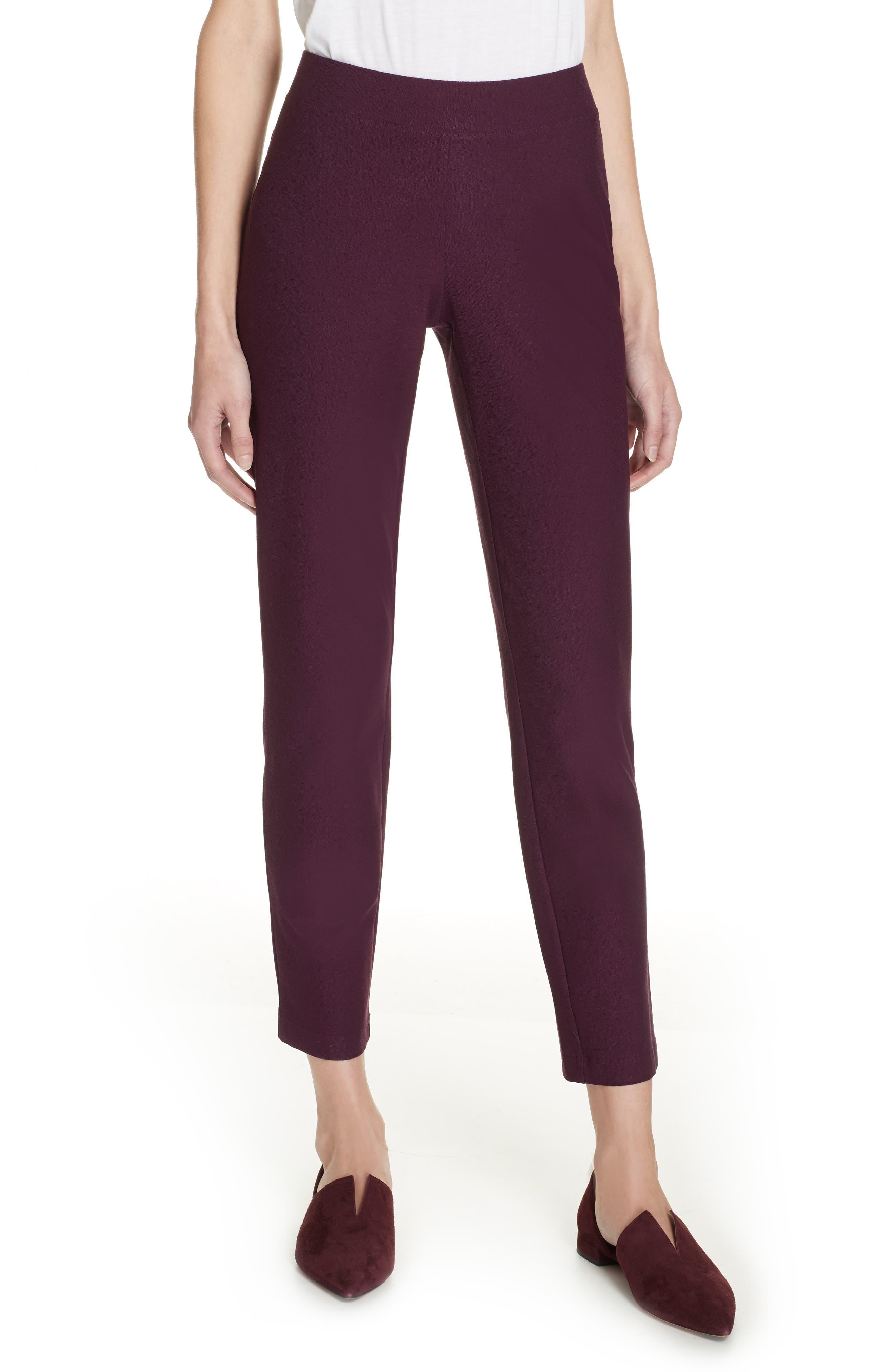 Stretch Crepe Slim Ankle Pants,                         Main,                         color, RAISONETTE