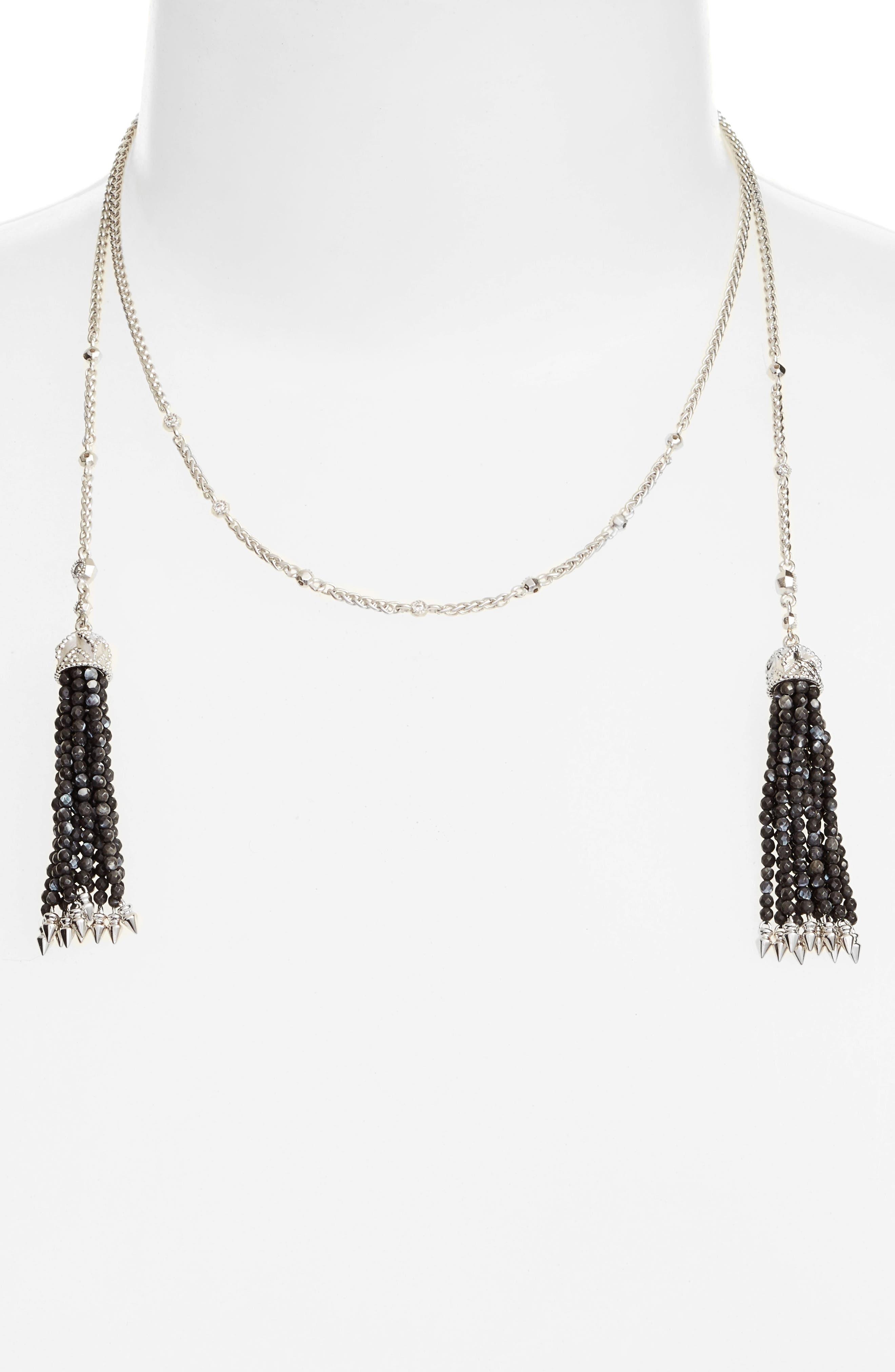 Monique Tassel Necklace,                         Main,                         color,