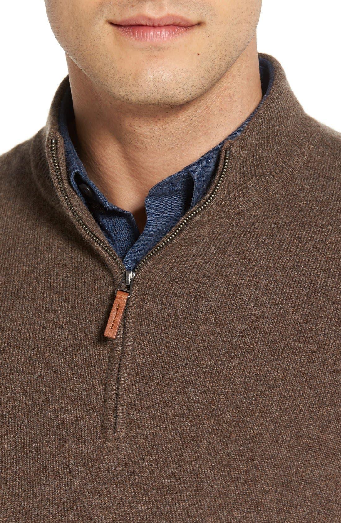 Cashmere Quarter Zip Sweater,                             Alternate thumbnail 39, color,