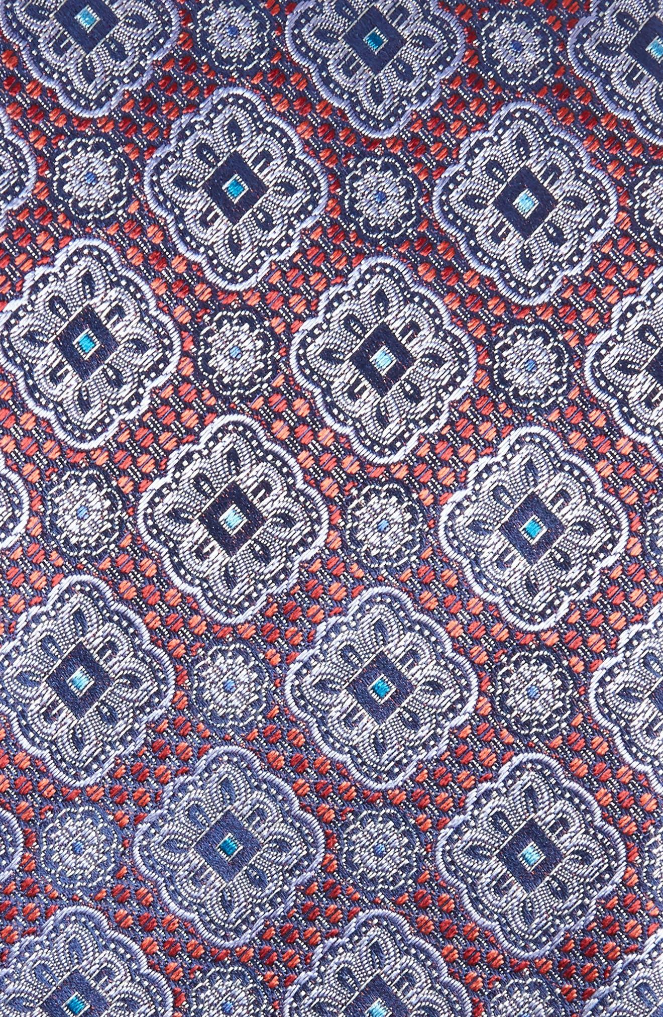Medallion Silk Tie,                             Alternate thumbnail 2, color,                             601