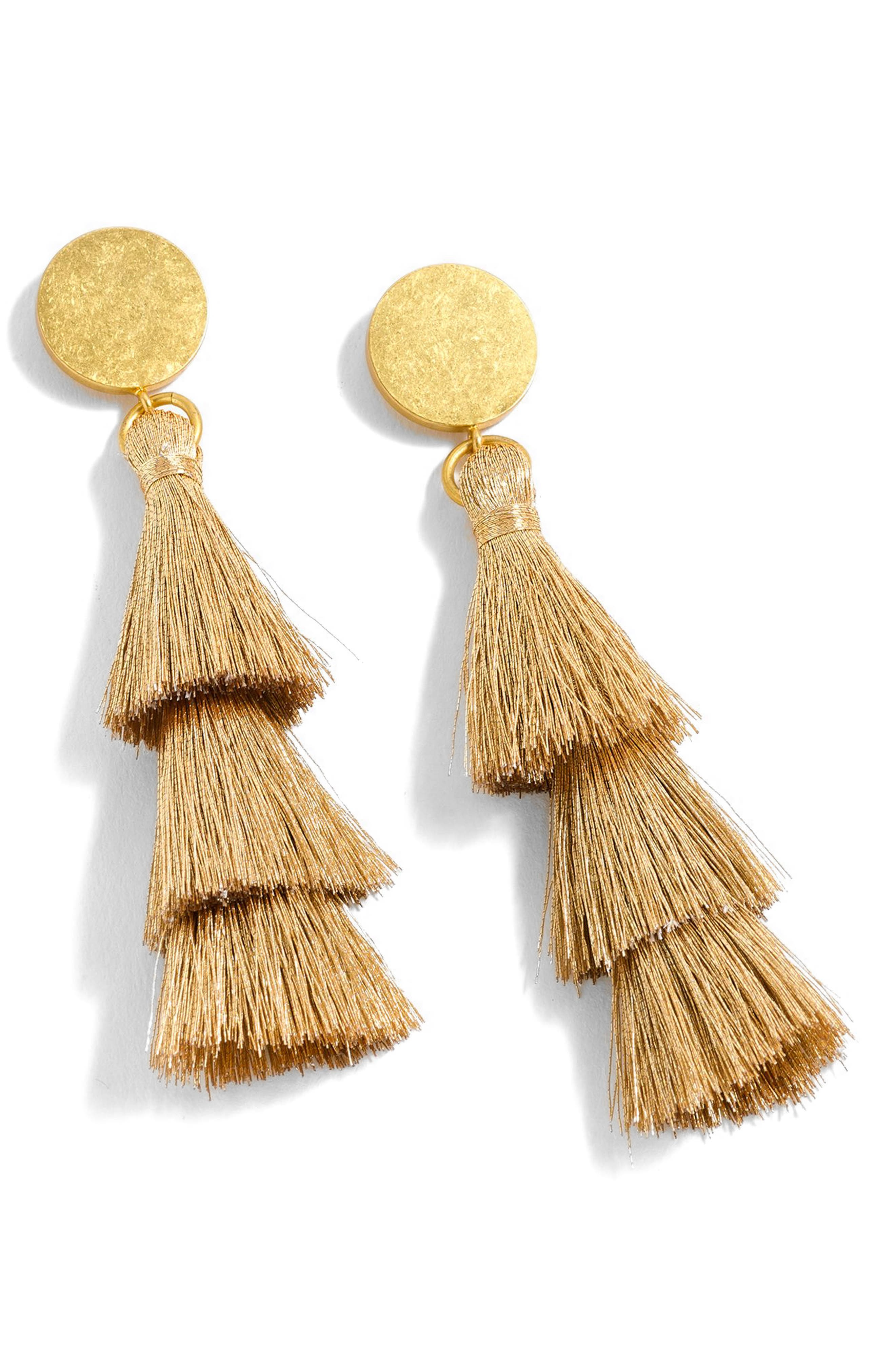 Tiered Tassel Earrings,                             Main thumbnail 3, color,