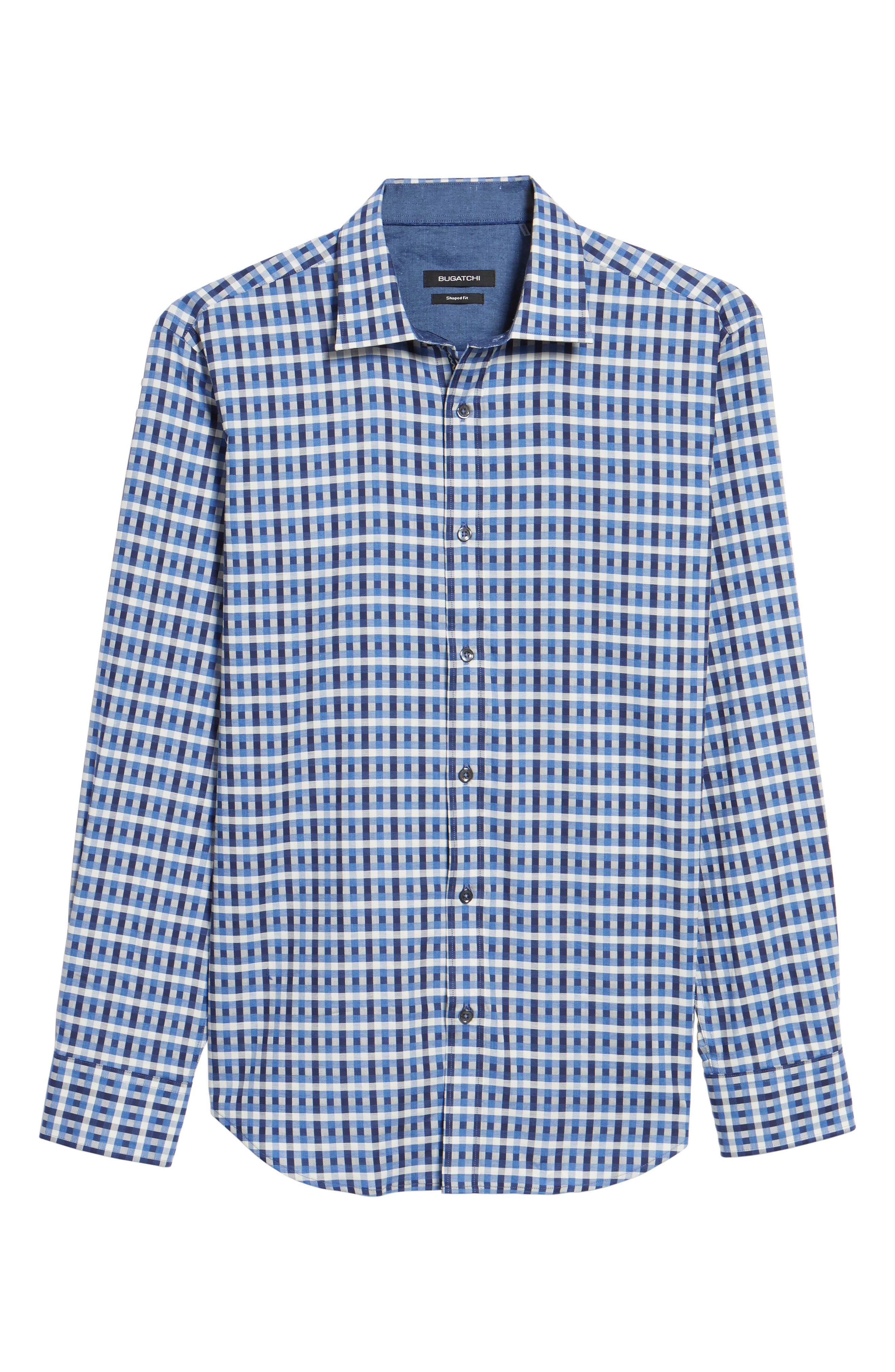 Shaped Fit Check Sport Shirt,                             Alternate thumbnail 6, color,                             412