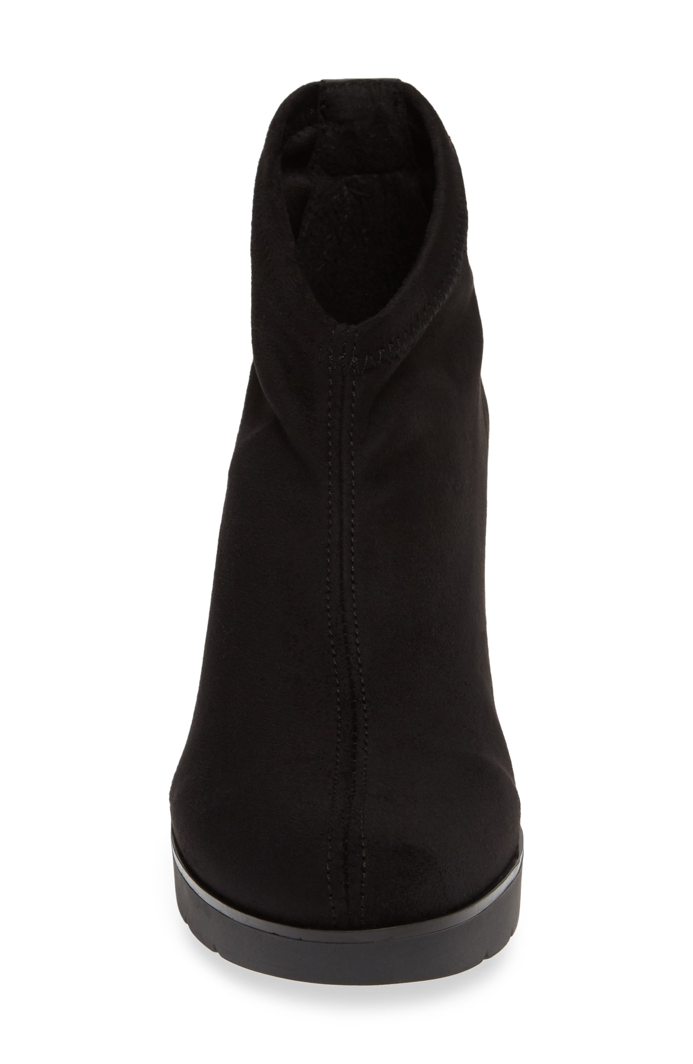 'Finley' Bootie,                             Alternate thumbnail 4, color,                             BLACK/ BLACK FABRIC