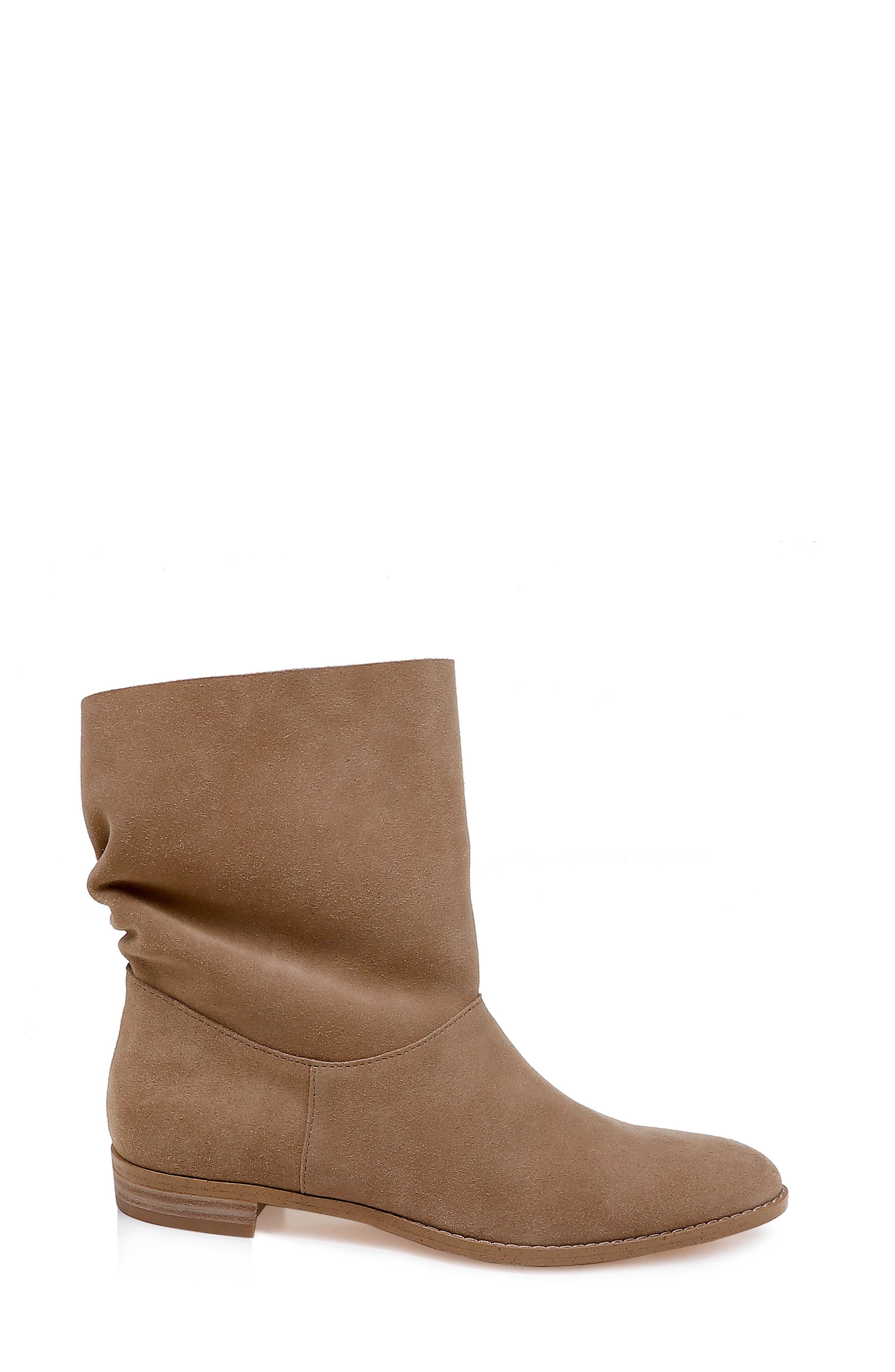 Claudia Slouch Bootie,                             Alternate thumbnail 3, color,                             OAT SUEDE