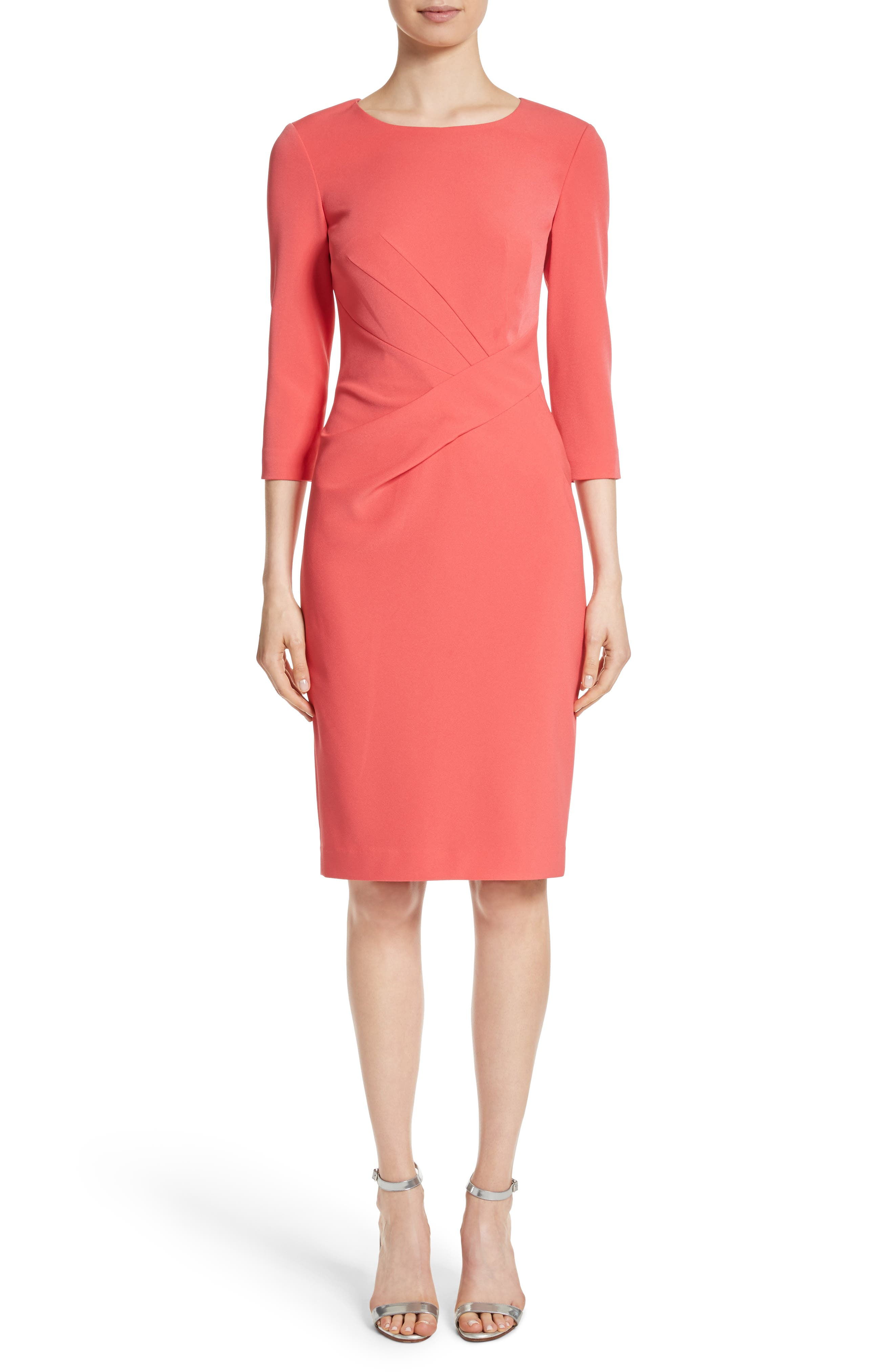 Stretch Crepe Dress,                             Main thumbnail 1, color,                             660