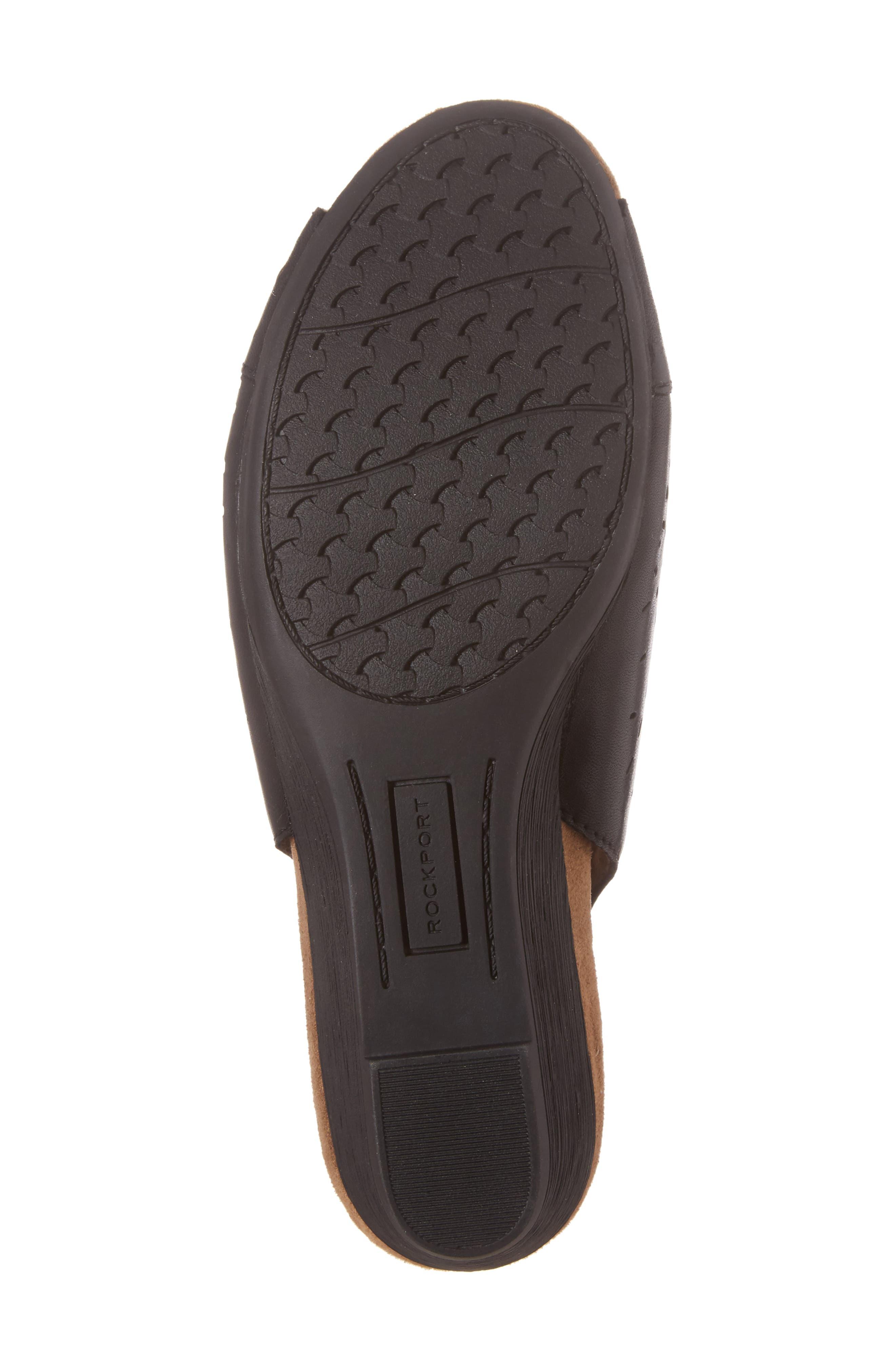 Judson Slingback Wedge Sandal,                             Alternate thumbnail 6, color,                             BLACK LEATHER