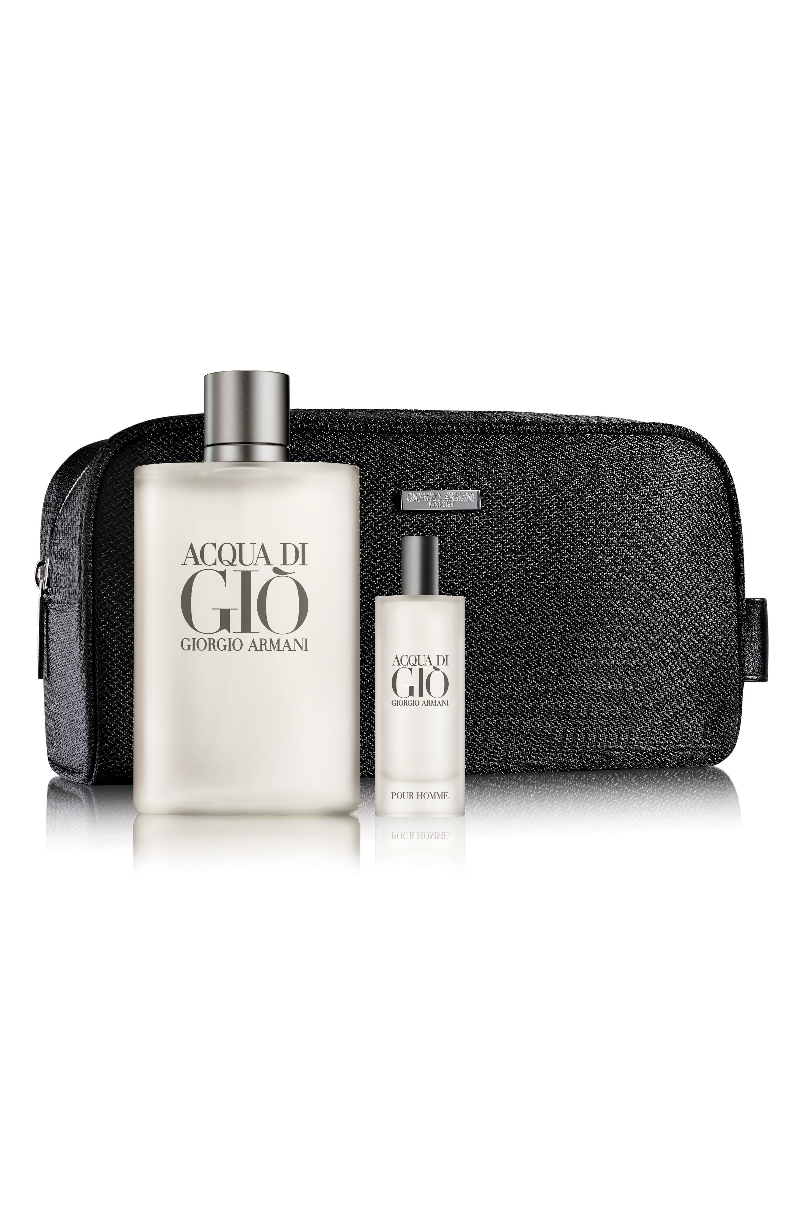 Acqua Di Giò pour Homme Large Travel with Style Set,                             Main thumbnail 1, color,                             000