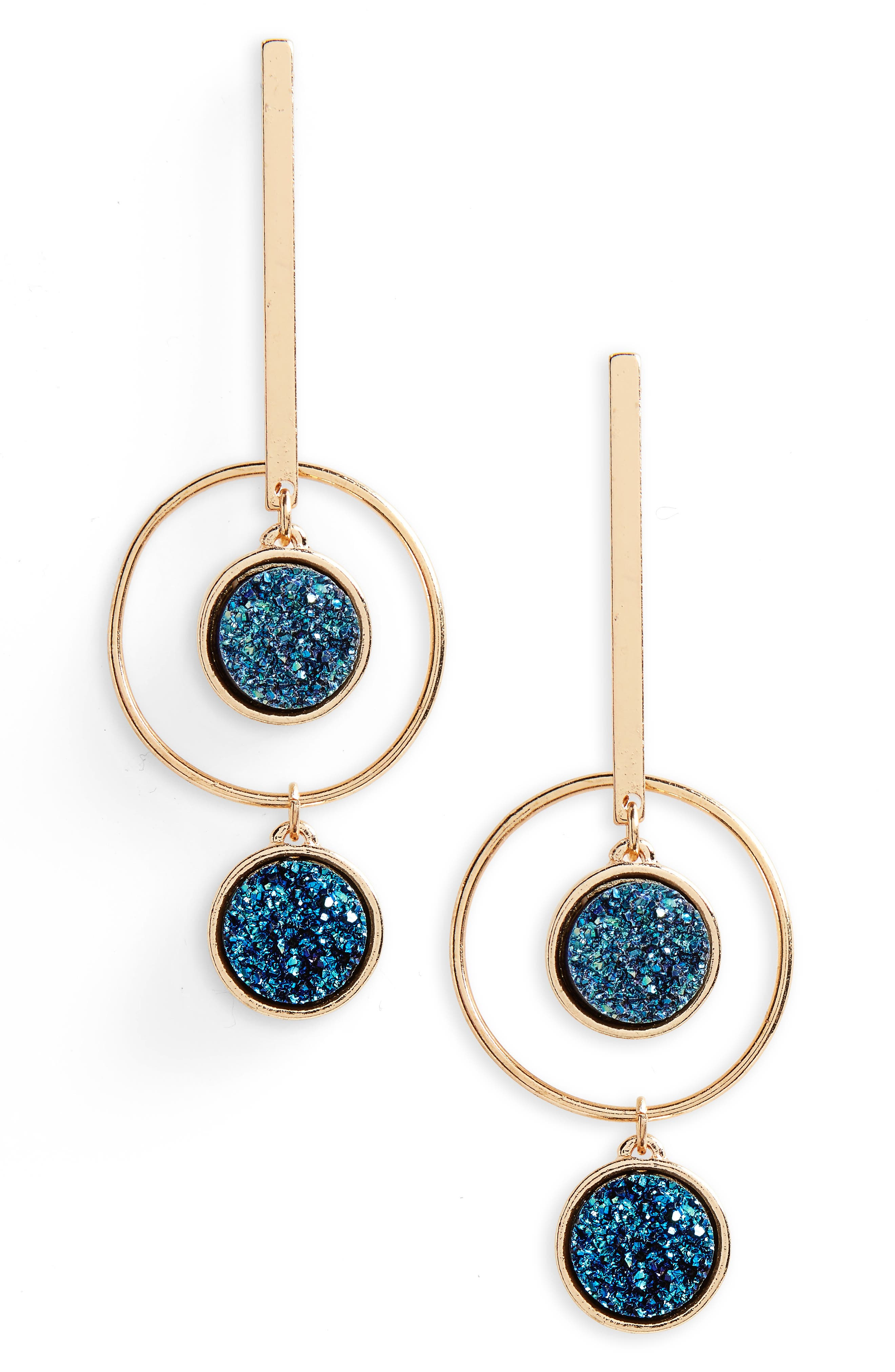 Geometric Drop Earrings,                         Main,                         color, 001