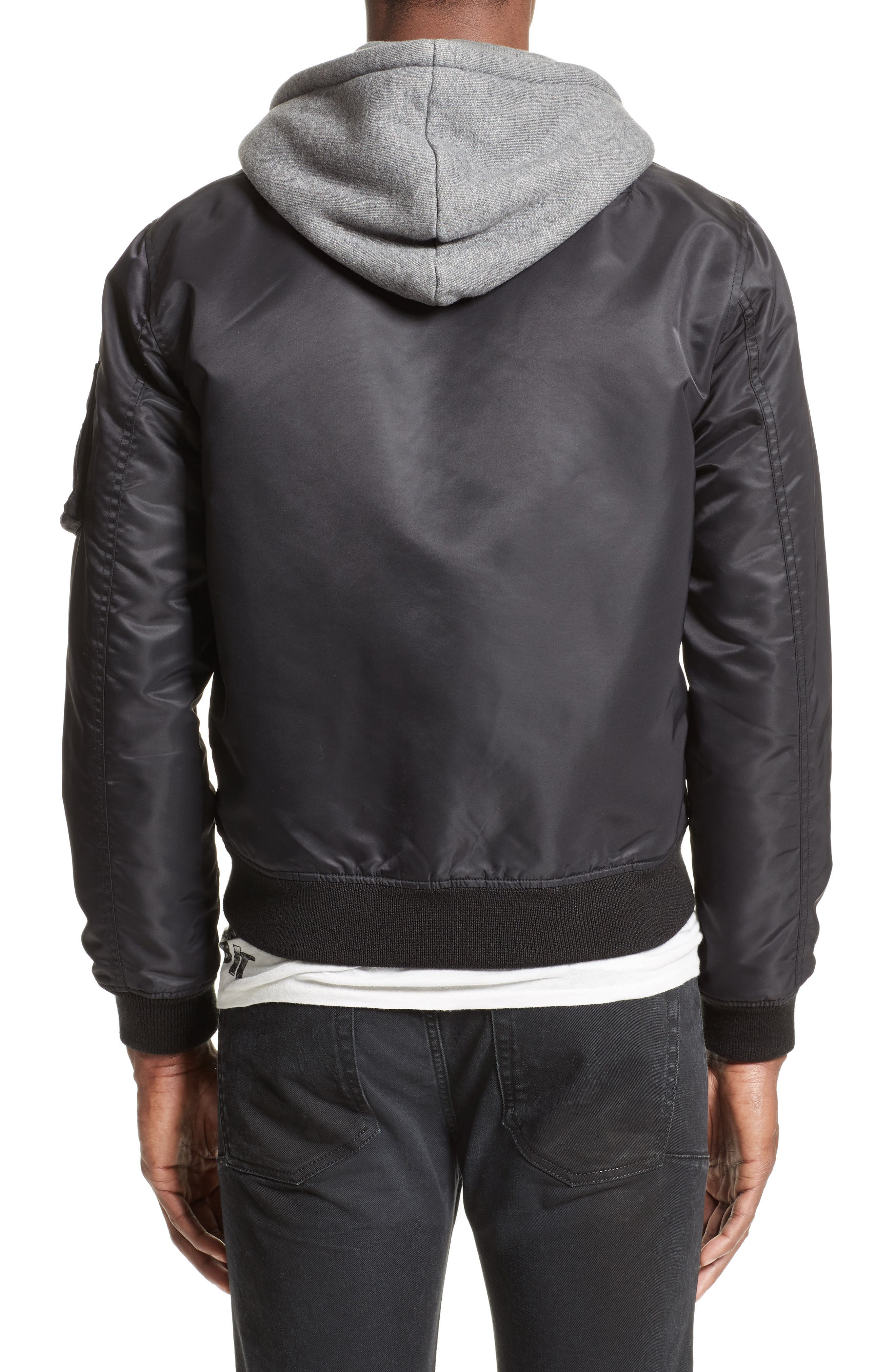 Flight Jacket with Hoodie,                             Alternate thumbnail 2, color,                             001