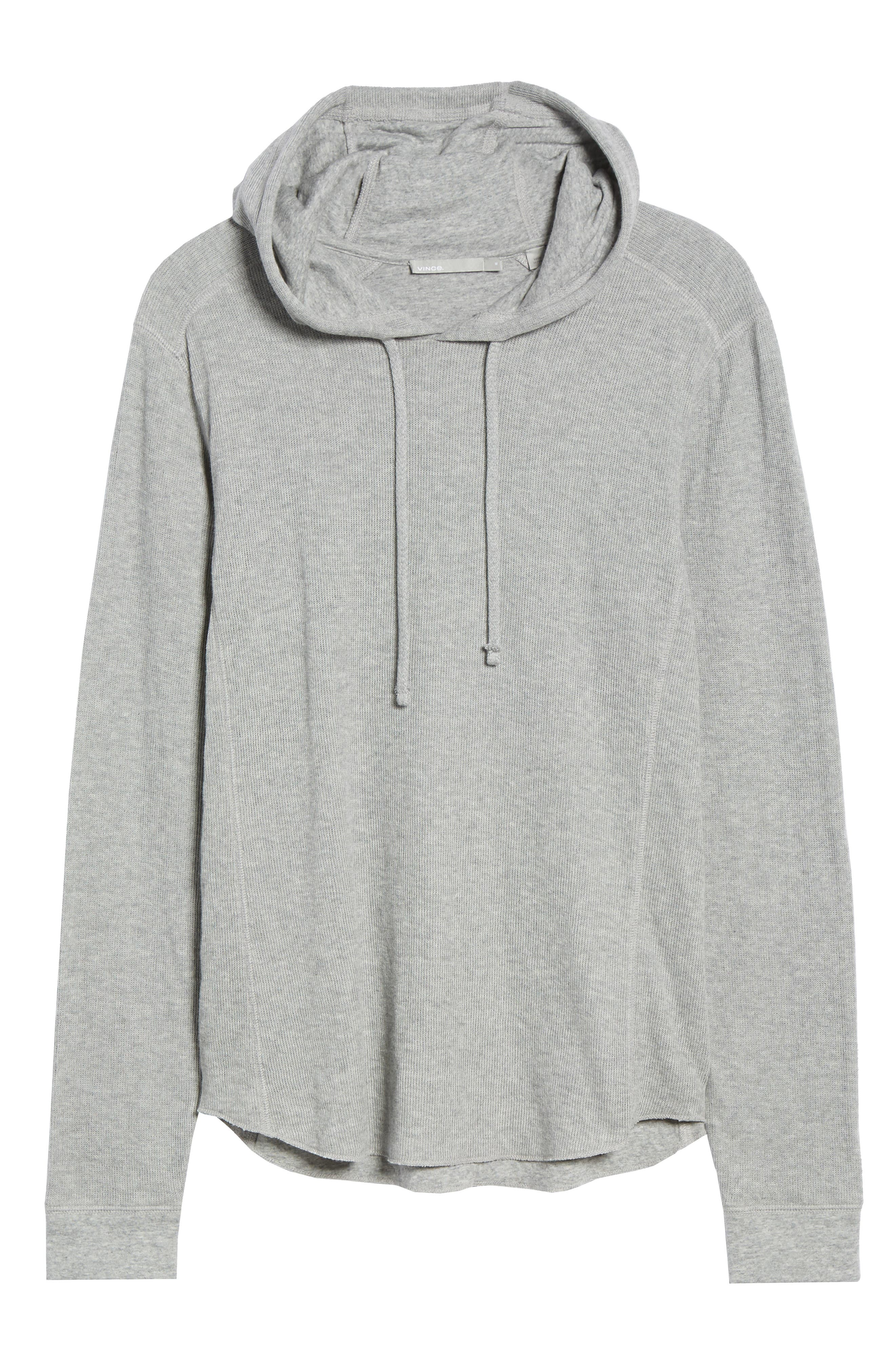 Double Knit Hoodie,                             Alternate thumbnail 6, color,                             H STEEL