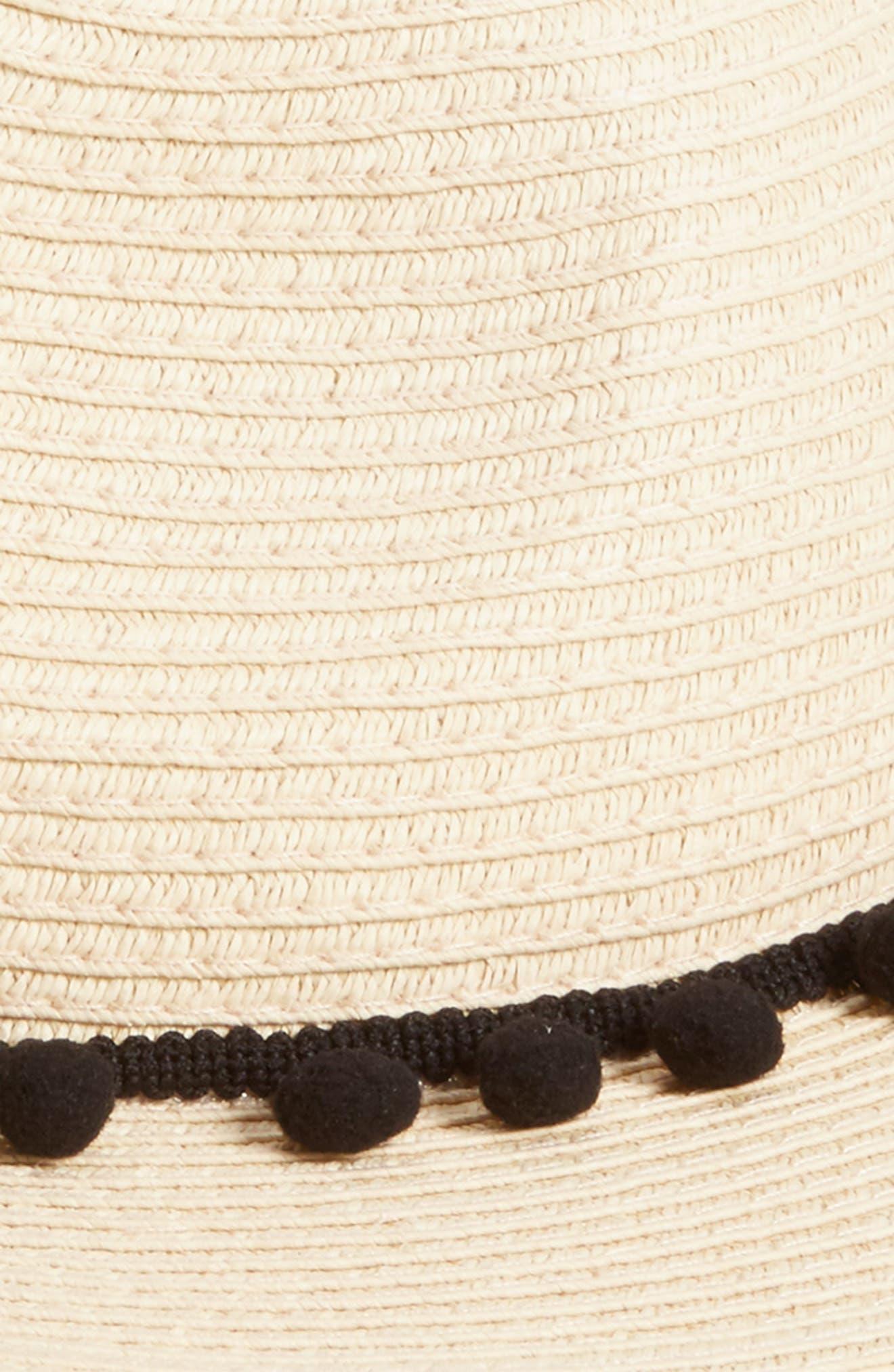 Pom Pom Panama Hat,                             Alternate thumbnail 2, color,                             101
