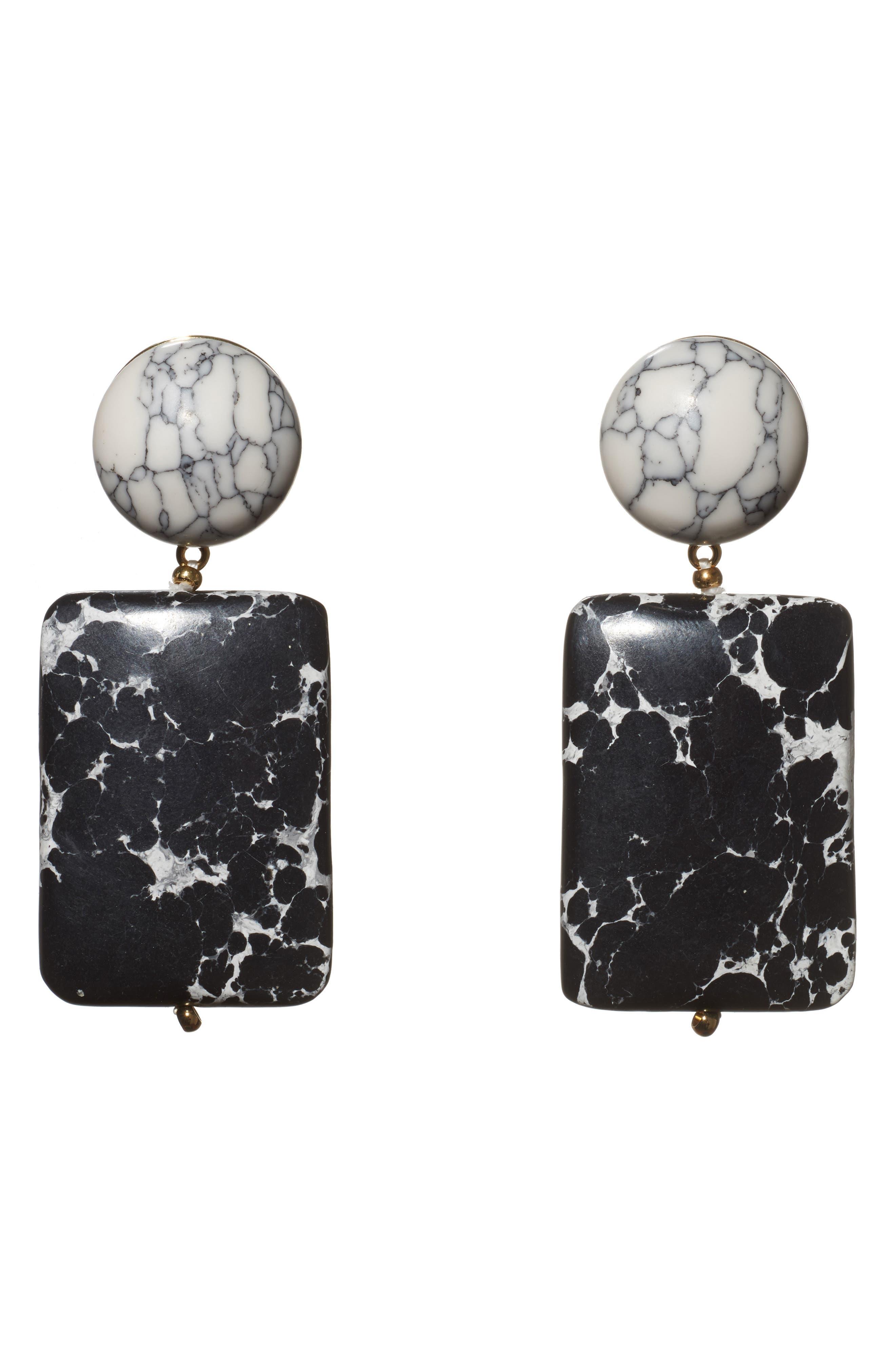 Keepsake Stone Drop Earrings,                         Main,                         color, 001