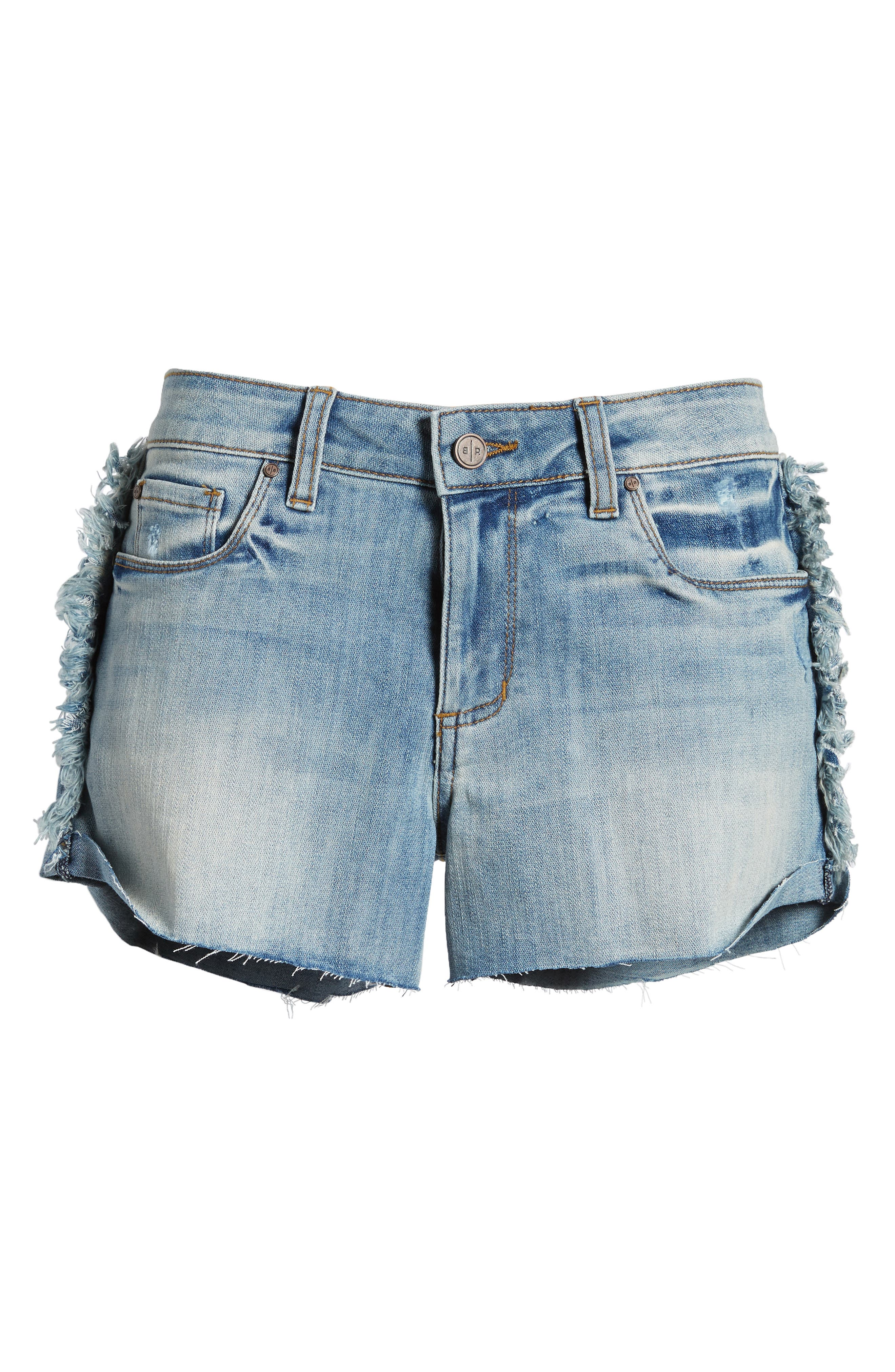 Fray Outseam Denim Shorts,                             Alternate thumbnail 7, color,                             420