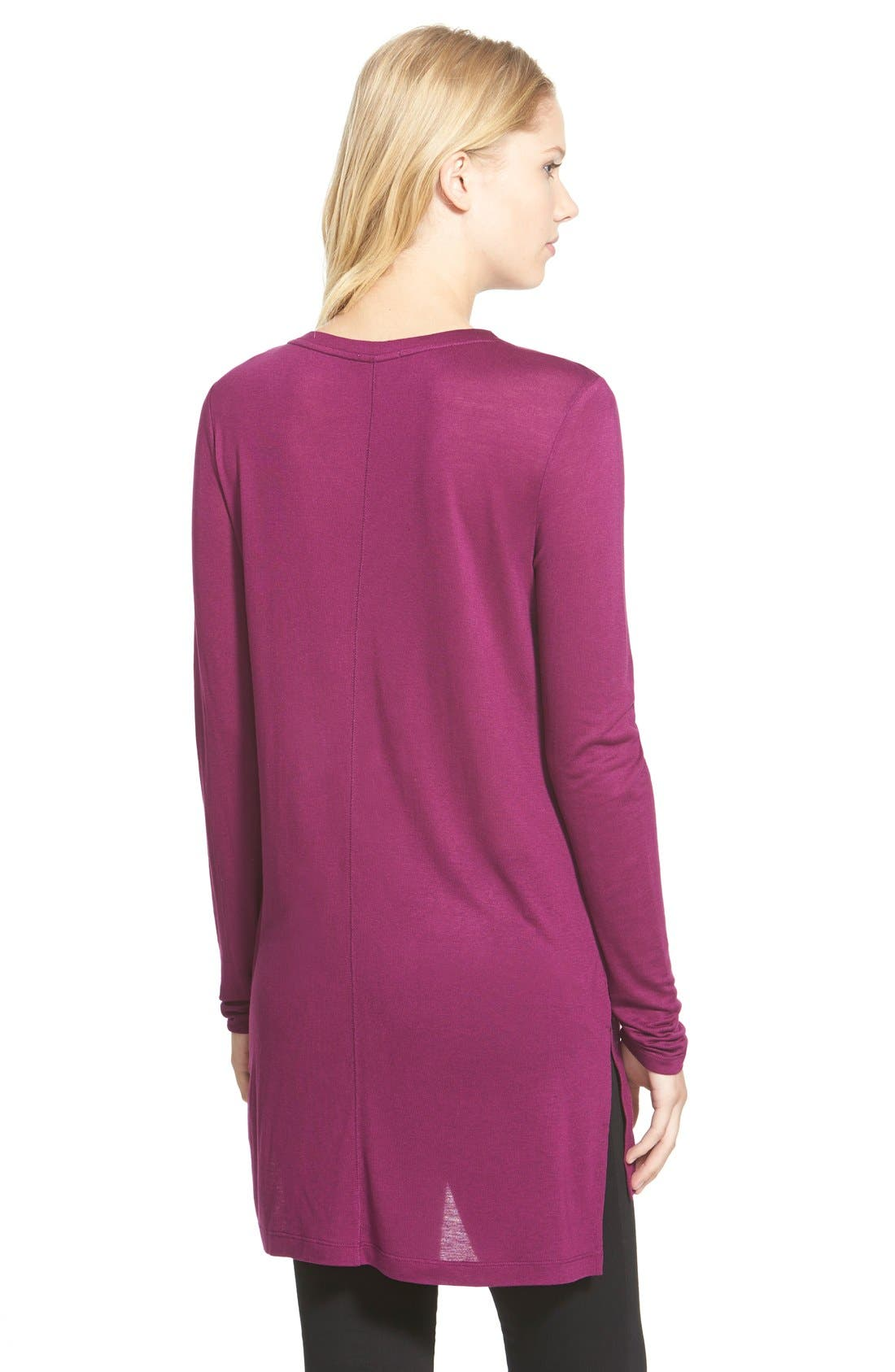 Long Sleeve Lightweight Tunic,                             Alternate thumbnail 18, color,