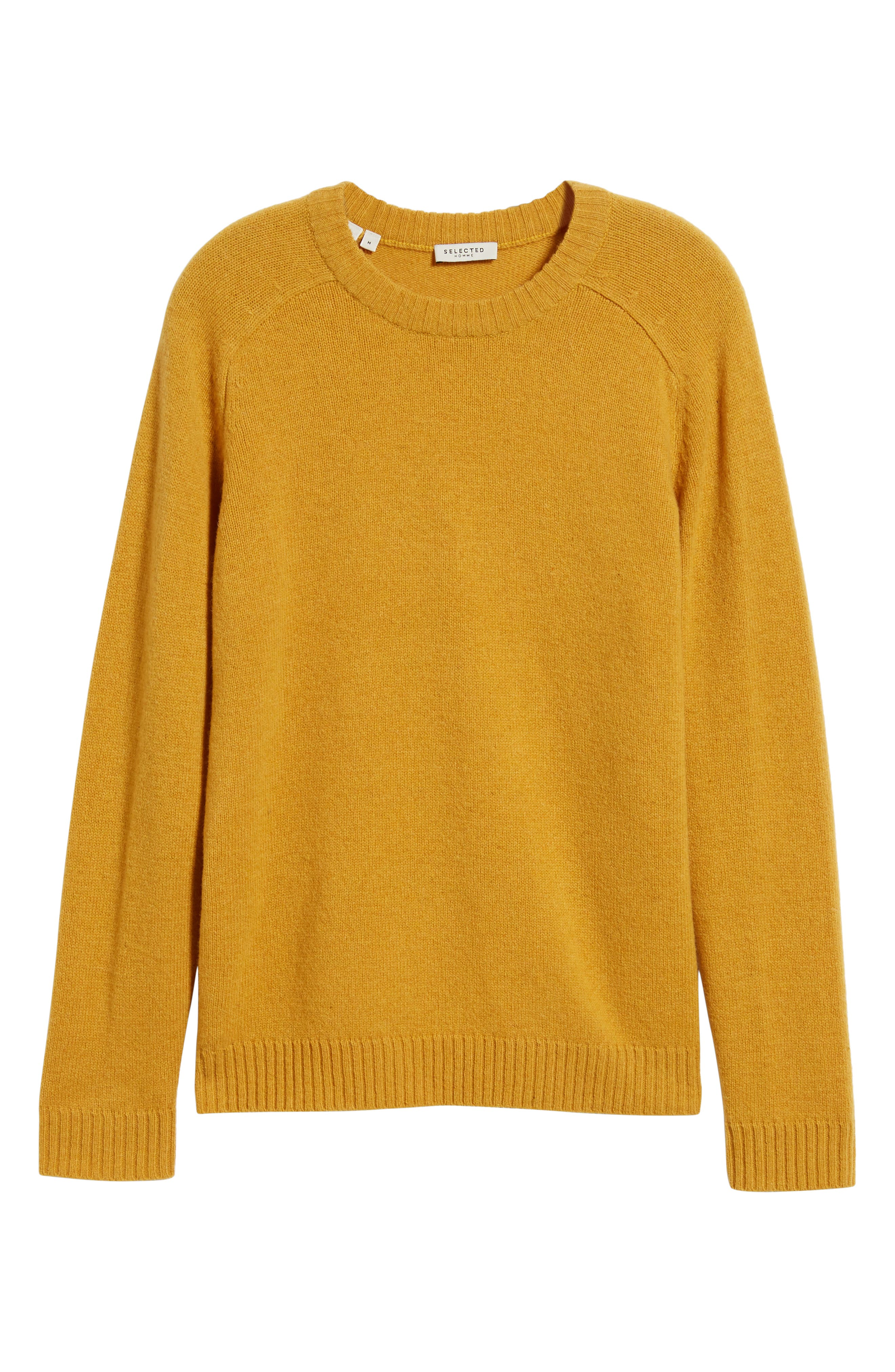 New Coban Regular Fit Wool Sweater,                             Alternate thumbnail 6, color,                             CURRY