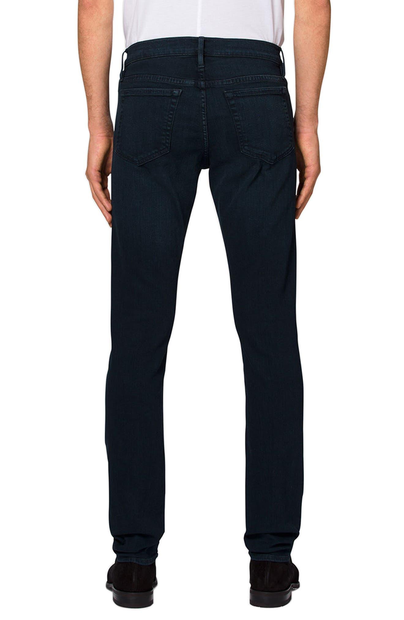 'L'Homme' Slim Fit Jeans,                             Alternate thumbnail 2, color,                             PLACID