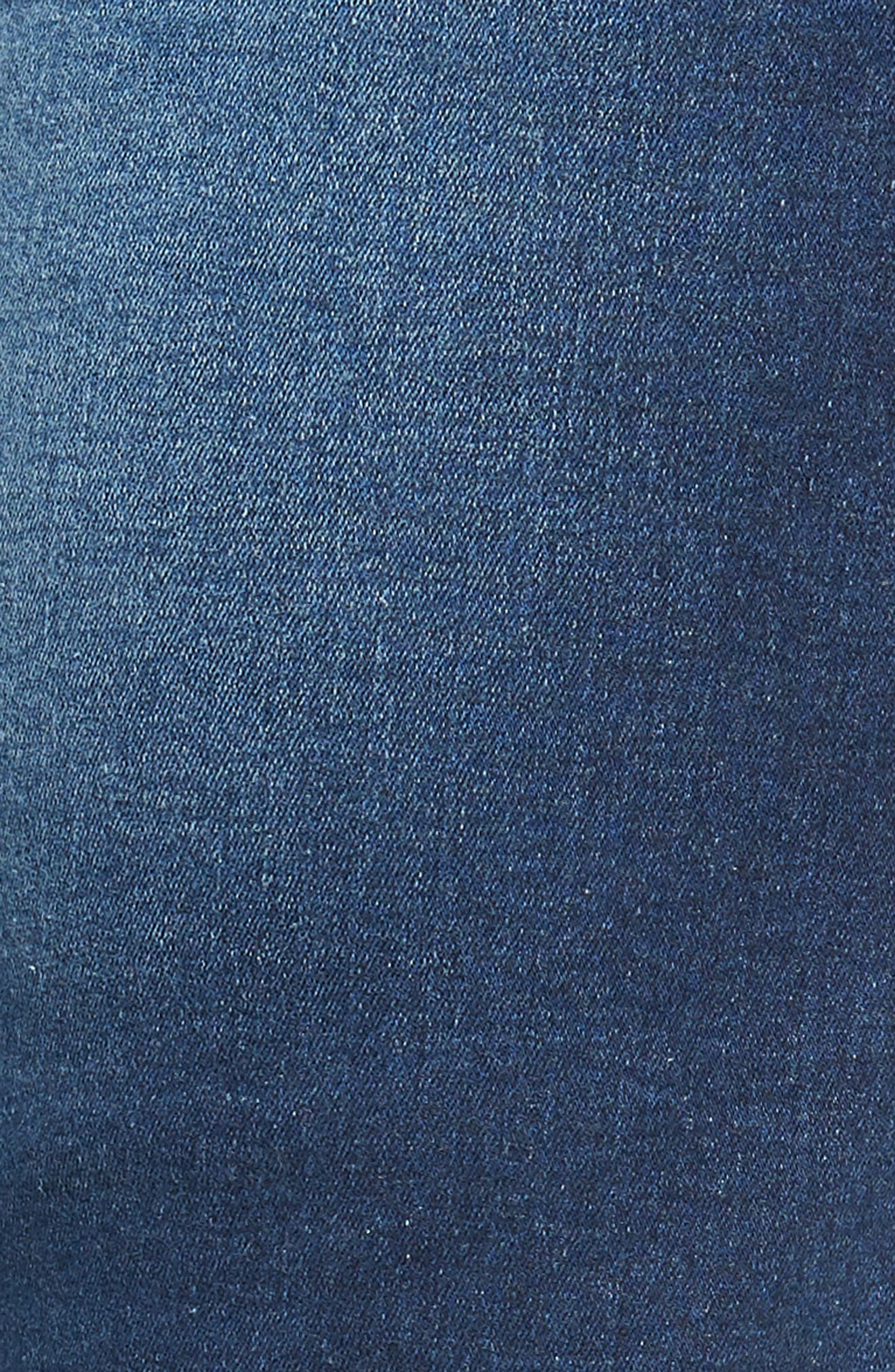 Leroy Skinny Fit Jeans,                             Alternate thumbnail 5, color,                             WORN DARK BLUE