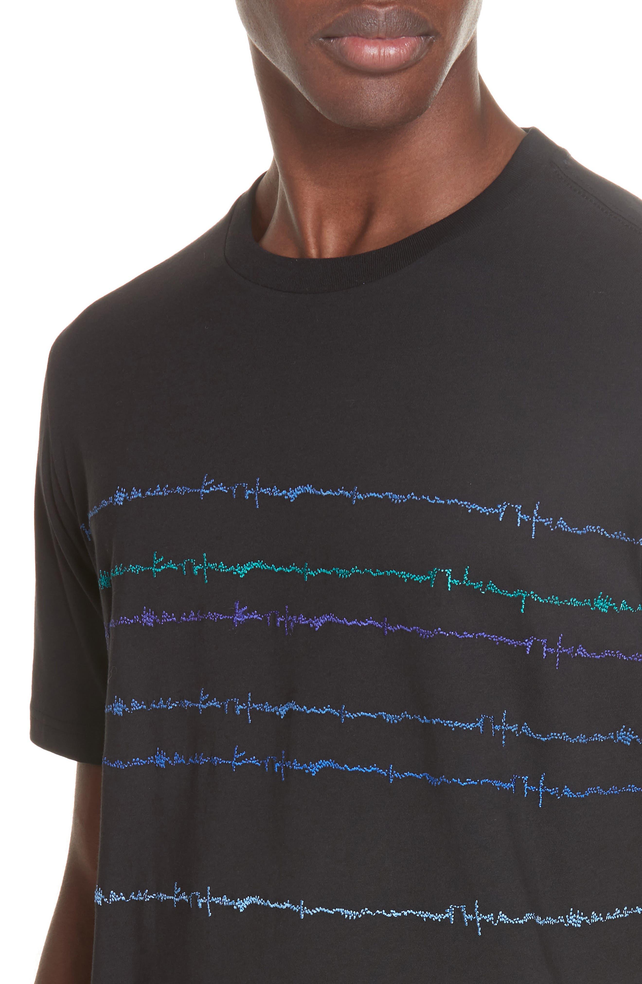 Noise Print T-Shirt,                             Alternate thumbnail 4, color,                             BLACK